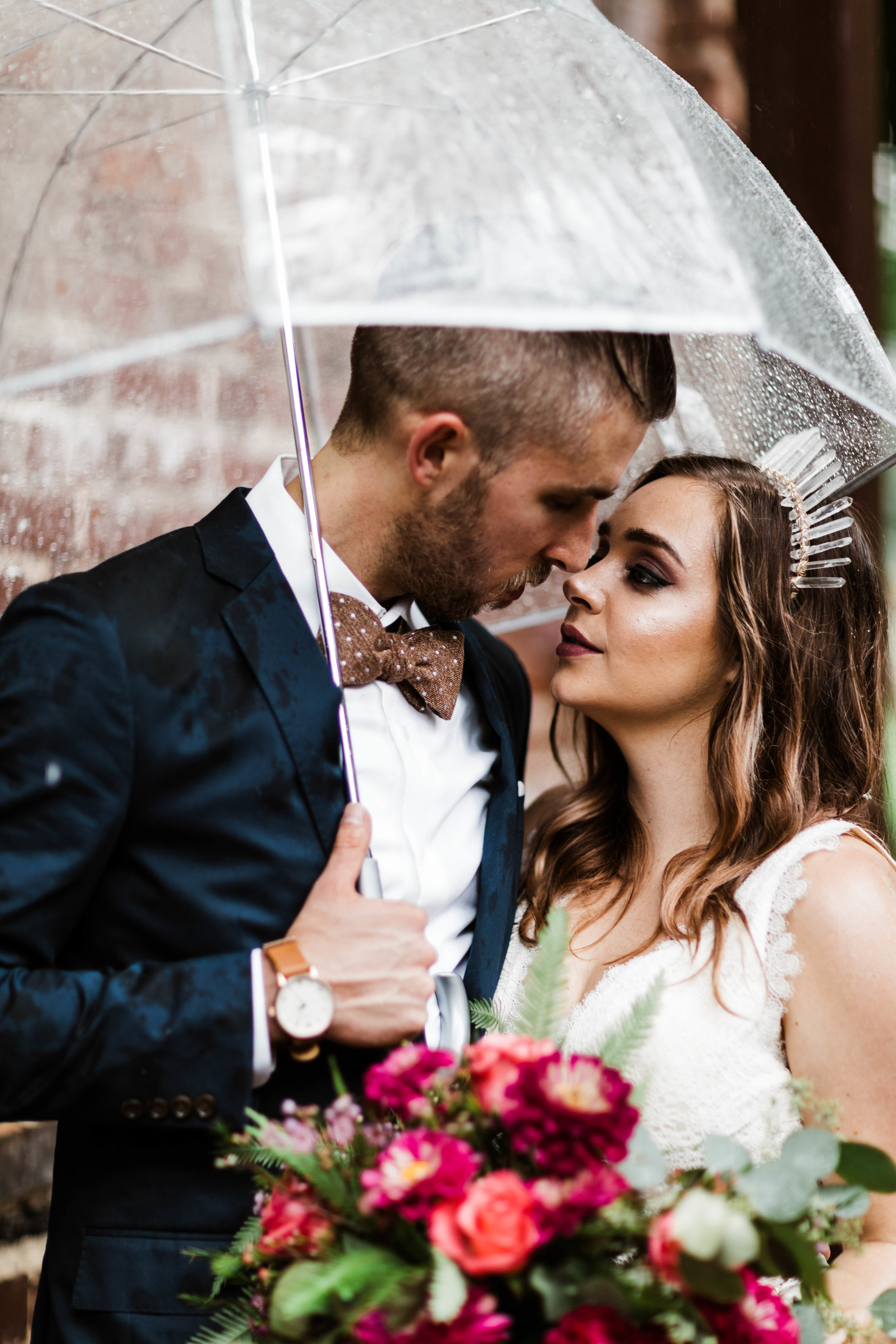 Rainy day elopement in the Blue Ridge Mountains of North Carolina | Asheville elopement photographers