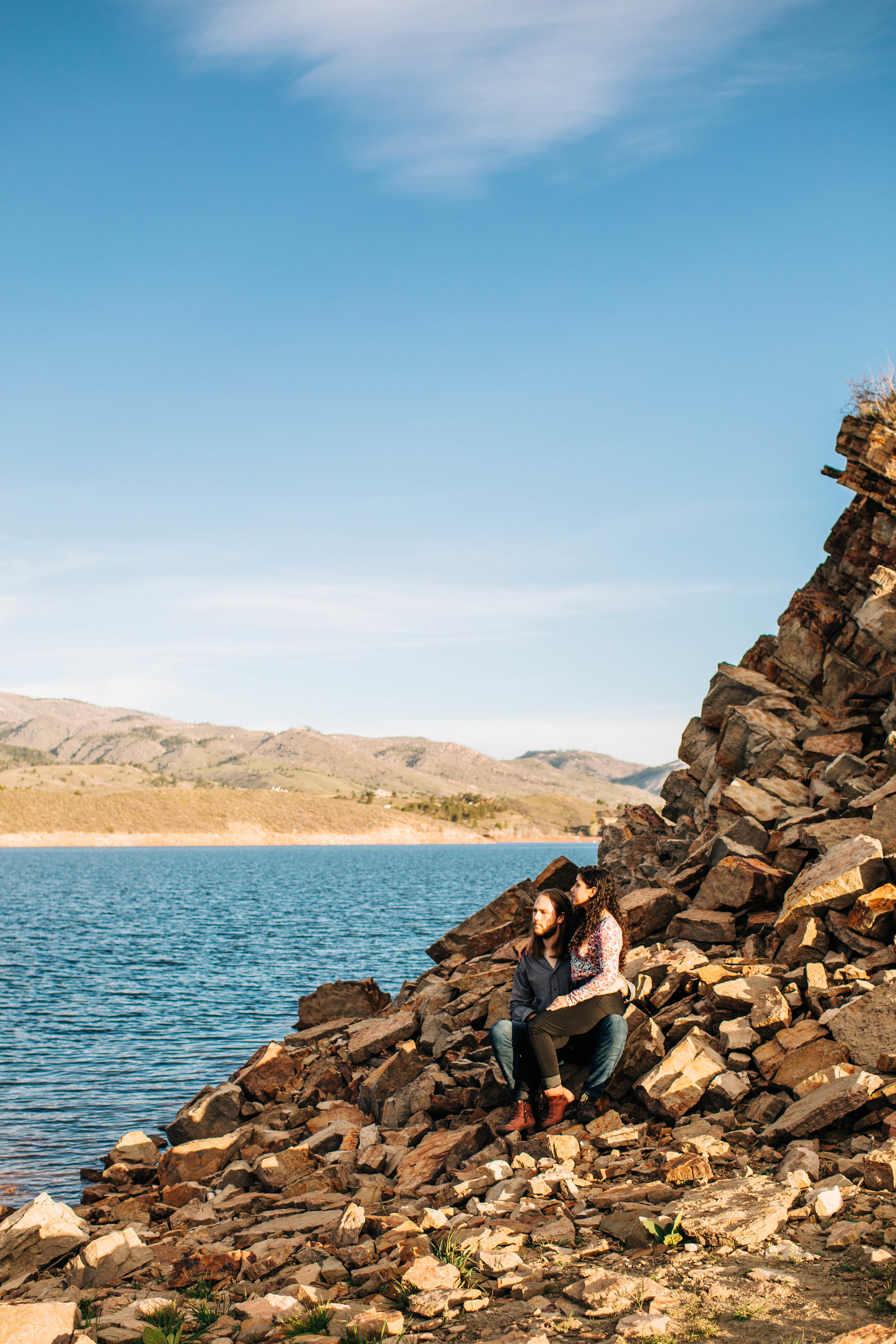 Alpine lake engagement session | best Colorado elopement photographers
