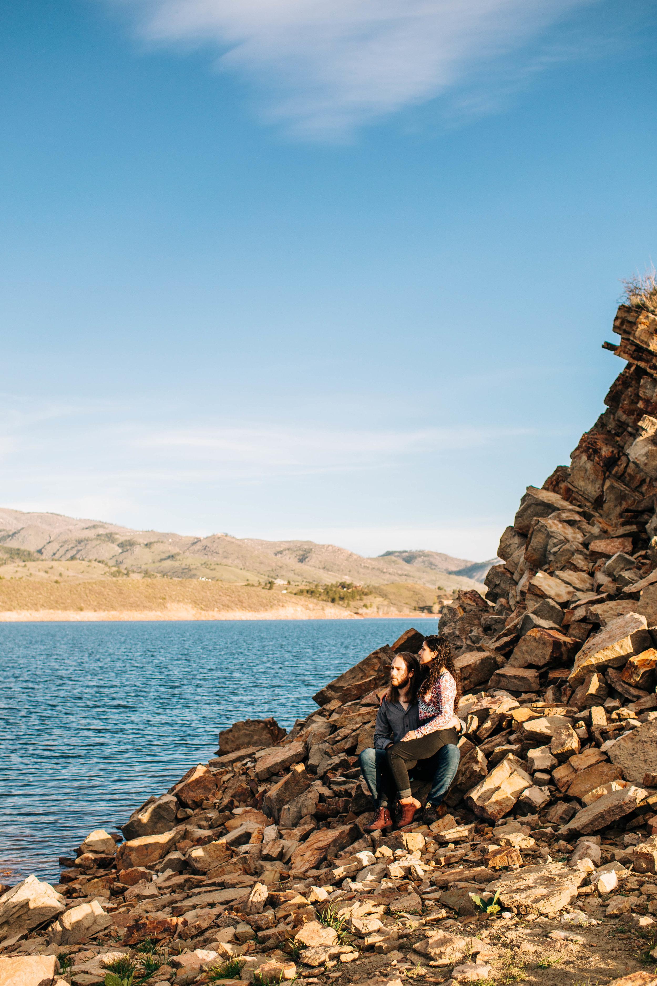 Copy of Alpine lake engagement session | best Colorado elopement photographers