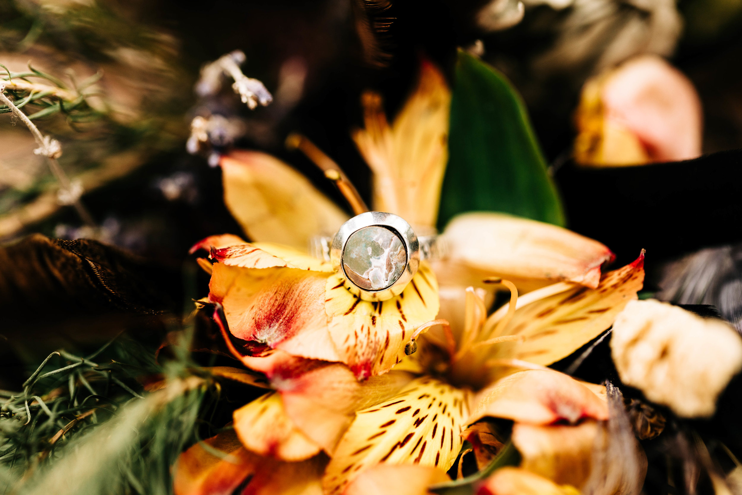 Handmade engagement ring for an adventure elopement in the Rocky Mountains | mountain elopement photographers