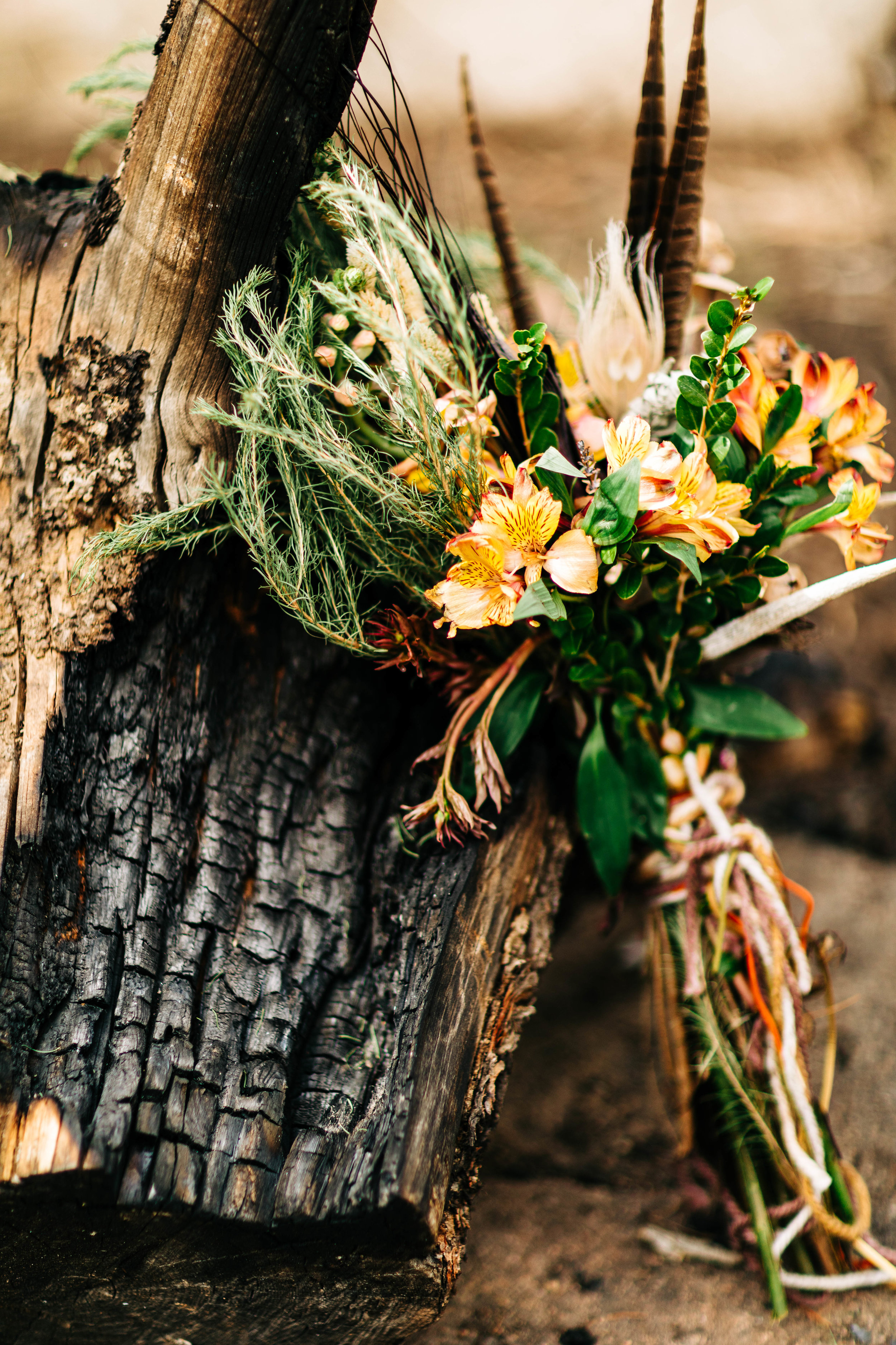 foraged elopement bouquet for a camper van Rocky Mountain elopement | Colorado adventure elopement photographers
