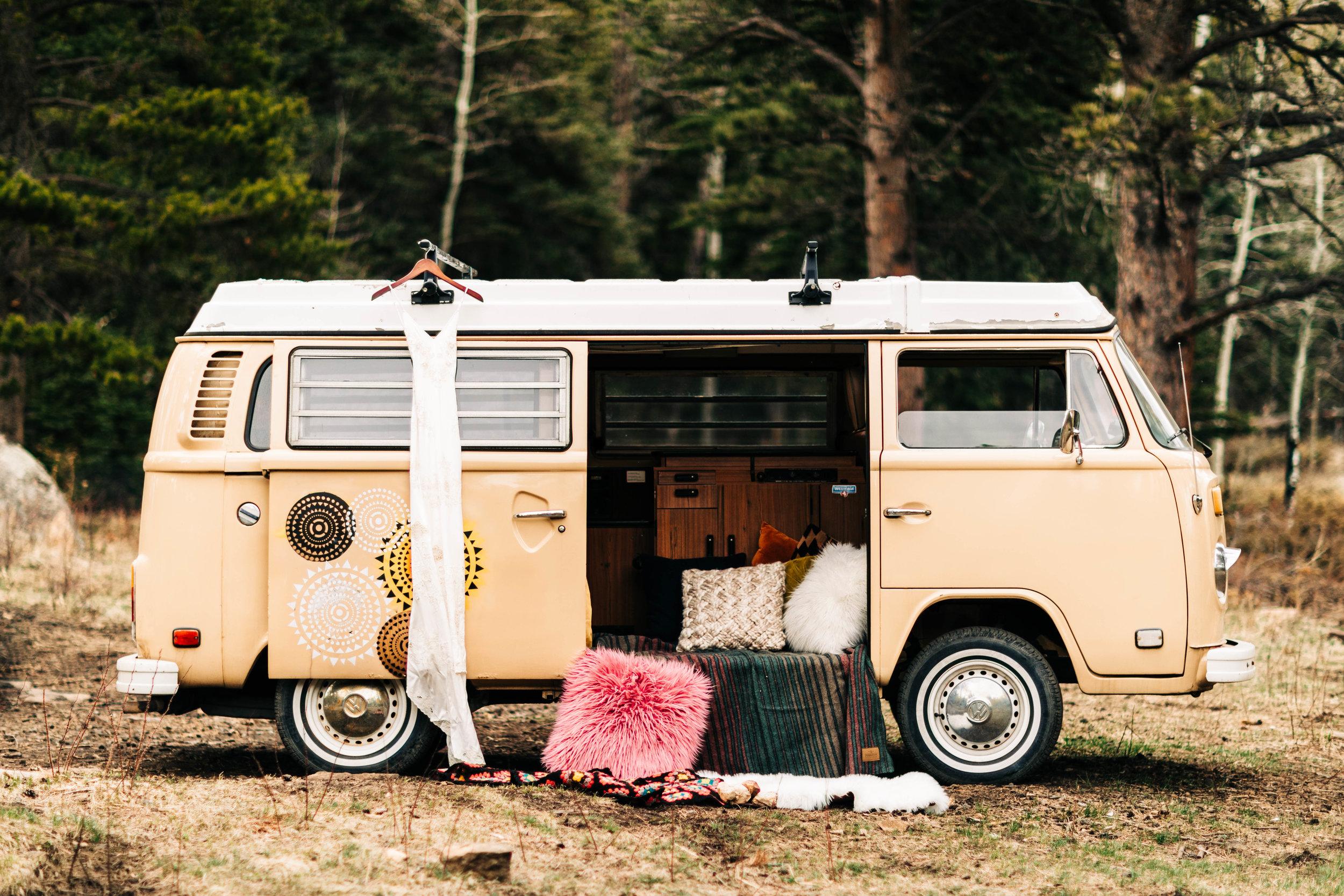 boho elopement dress by Spell bridal | Rocky Mountain adventure elopement photographers