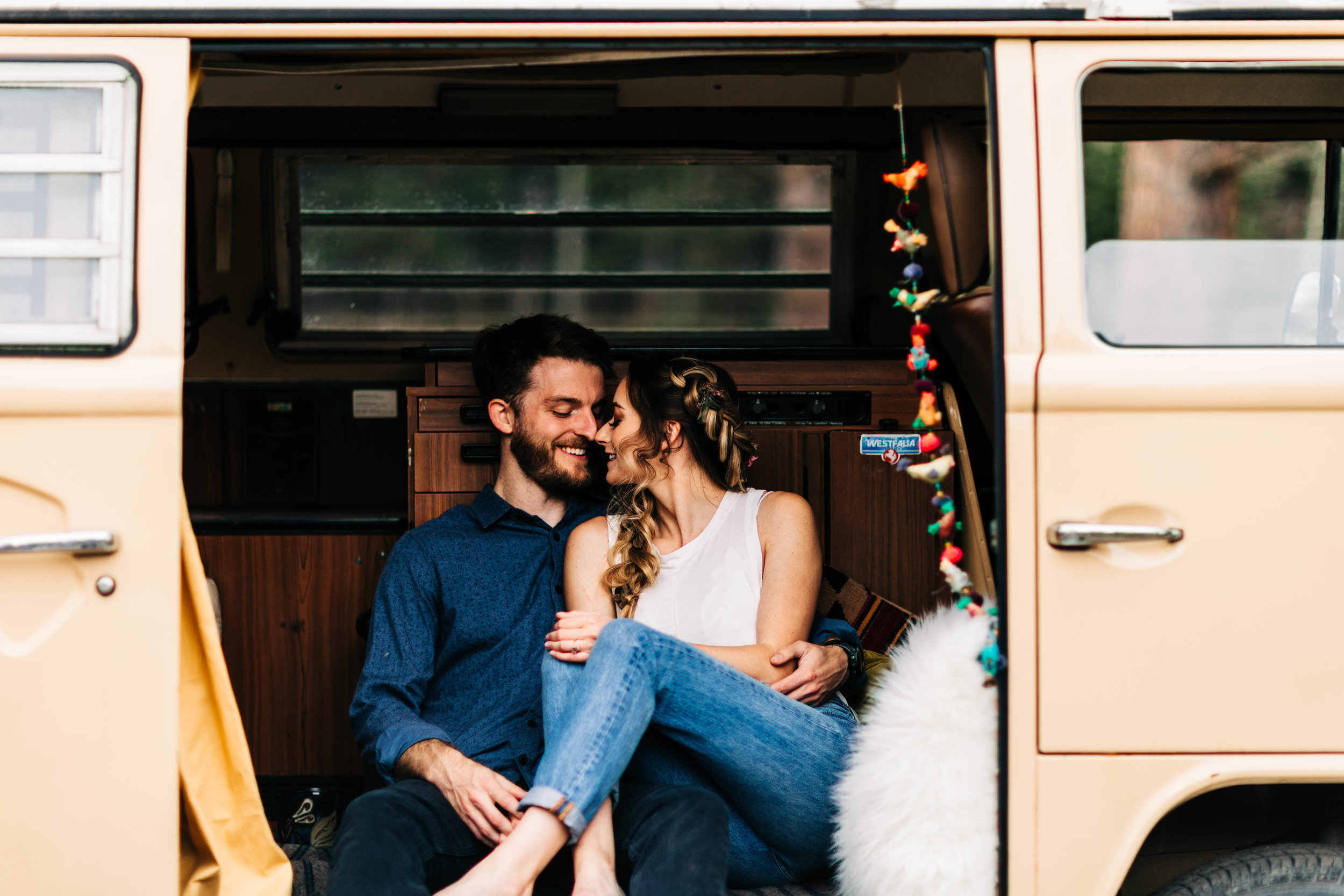 adventure session with a Colorado couple in their vintage camper van | best Colorado elopement photographers