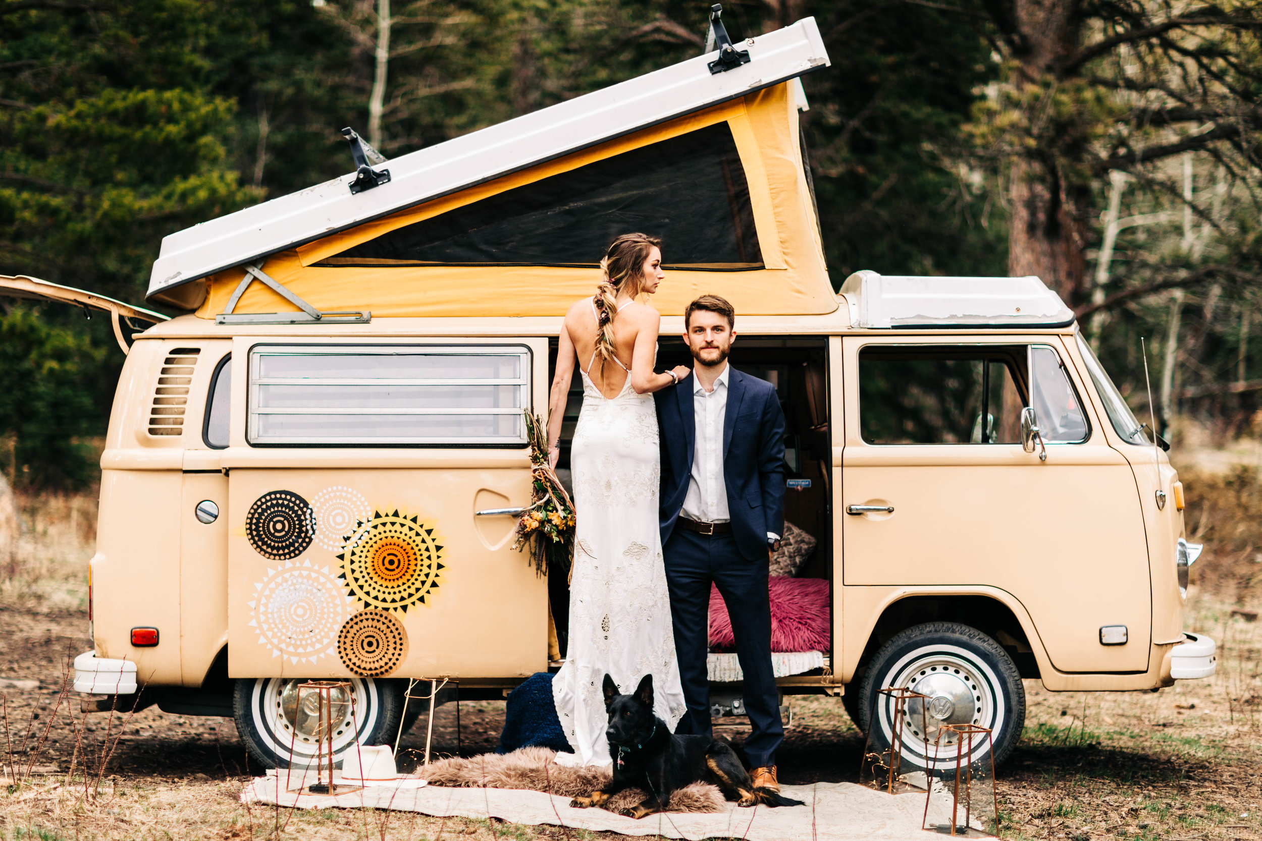 Van life elopement in northern Colorado | Rocky Mountain elopement photographers