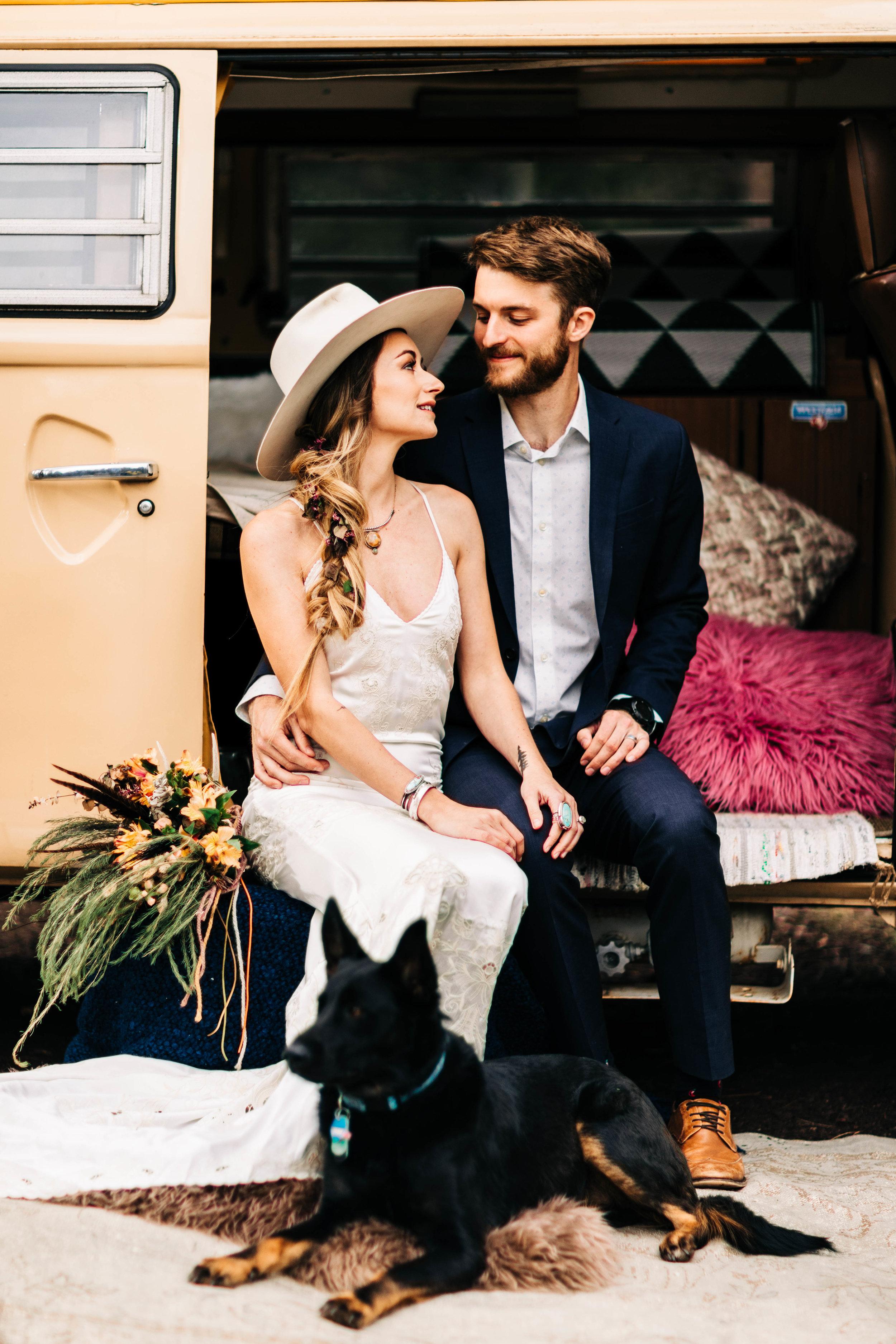 Van life elopement in northern Colorado | Rocky Mountain Colorado elopement photographers