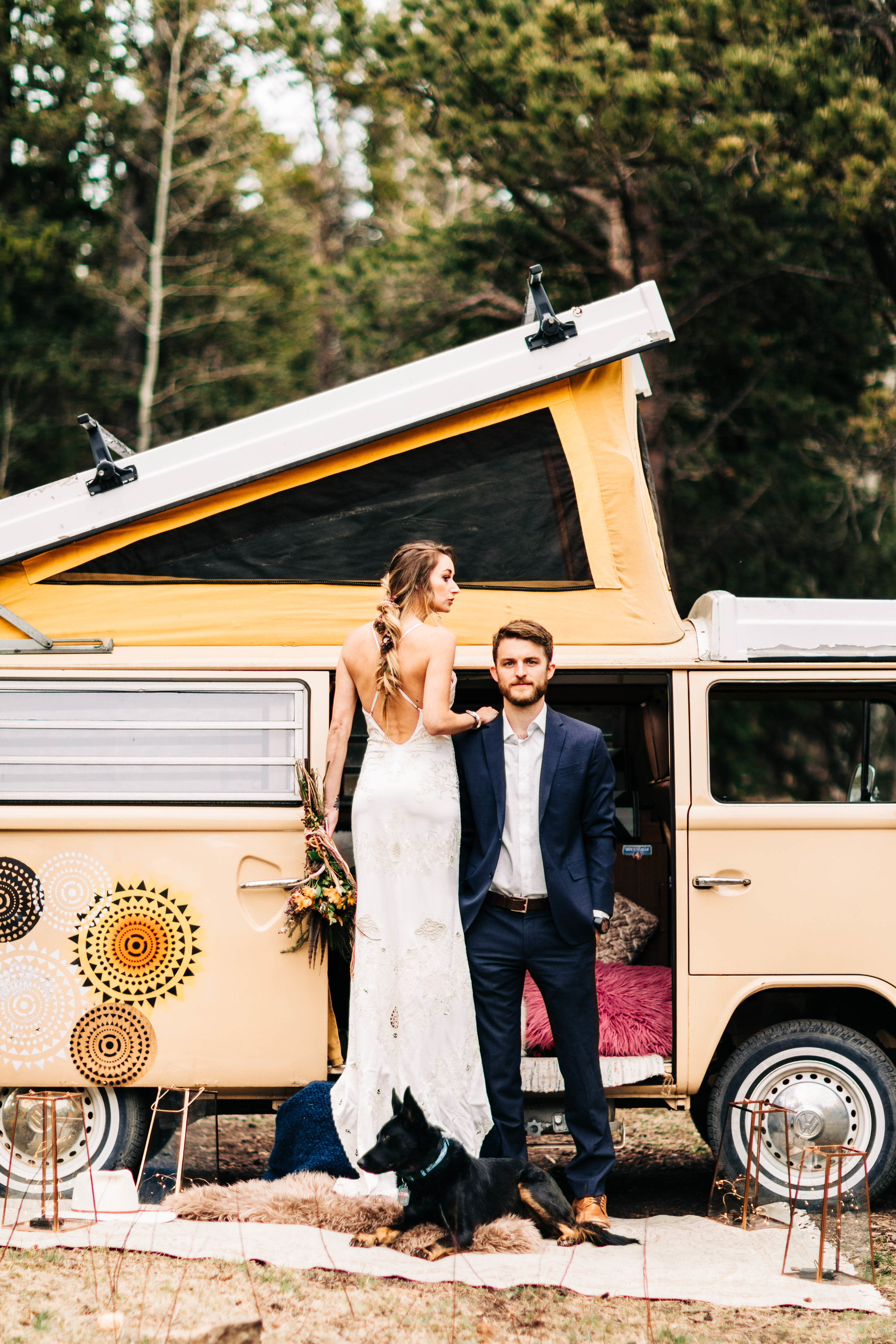 Van life elopement in northern Colorado | elopement photographers in the Rocky Mountains