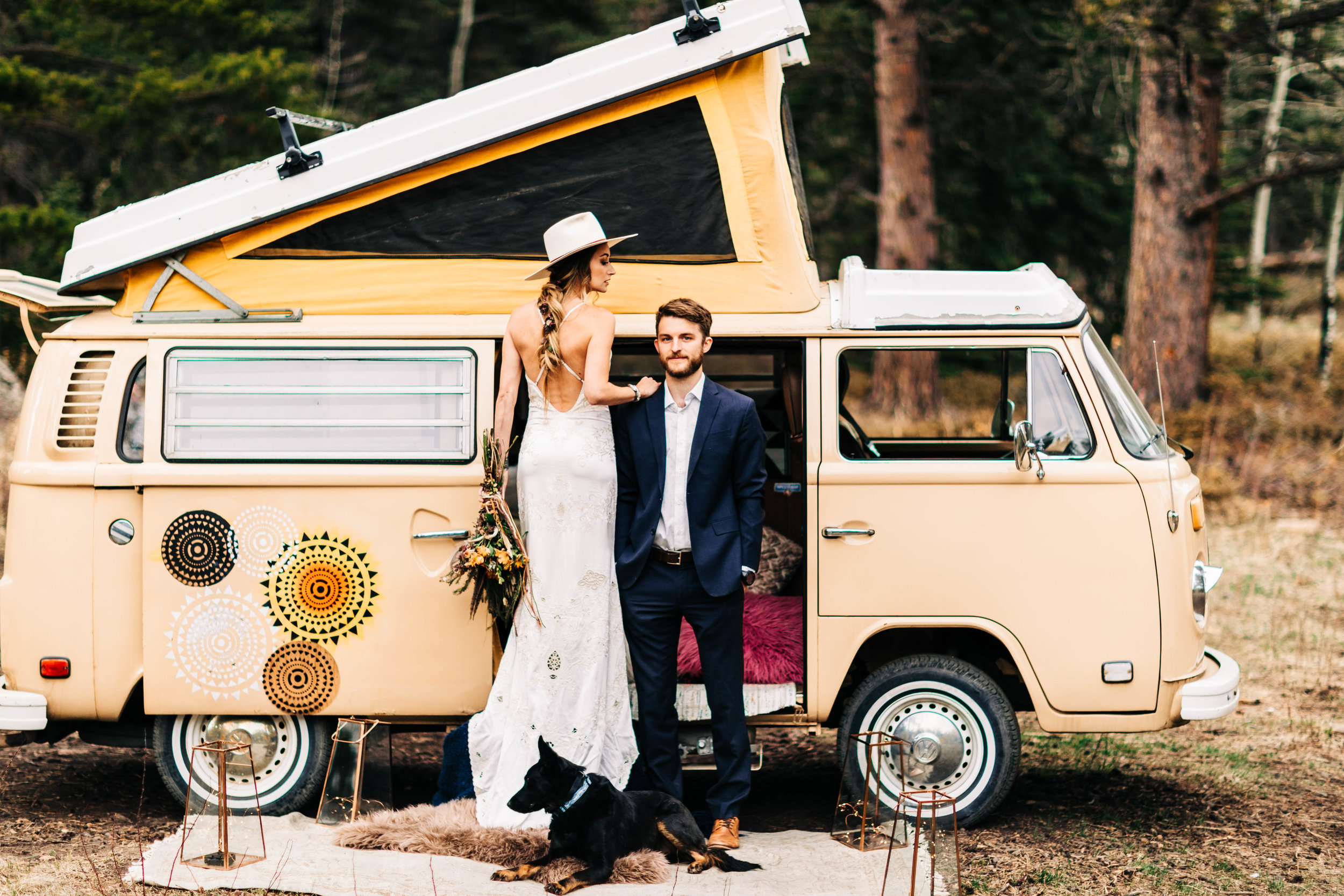 western vibes van life adventure elopement | Rocky Mountain elopement photographers
