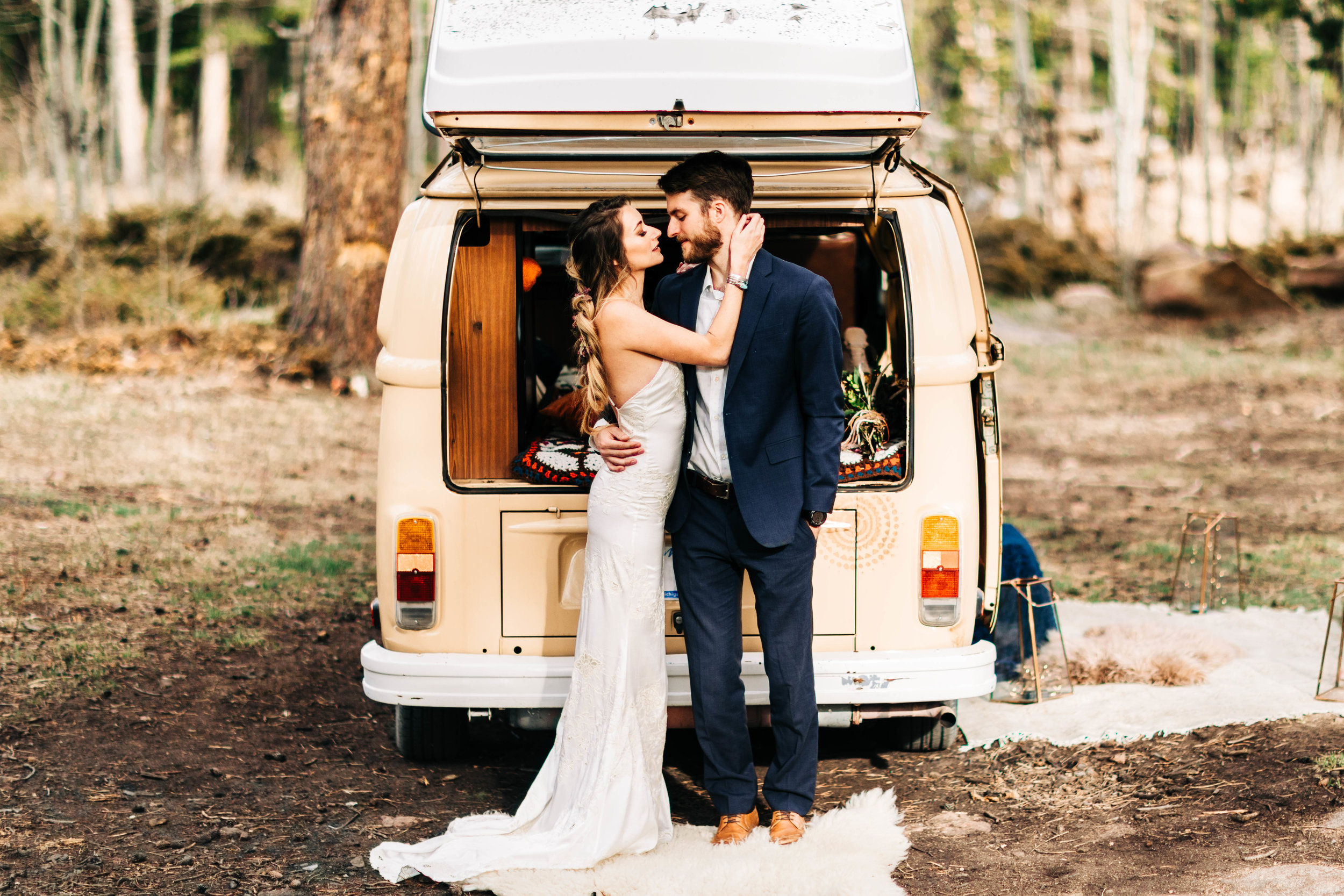 camper van elopement in the Rocky Mountains of Colorado | adventure wedding photographers