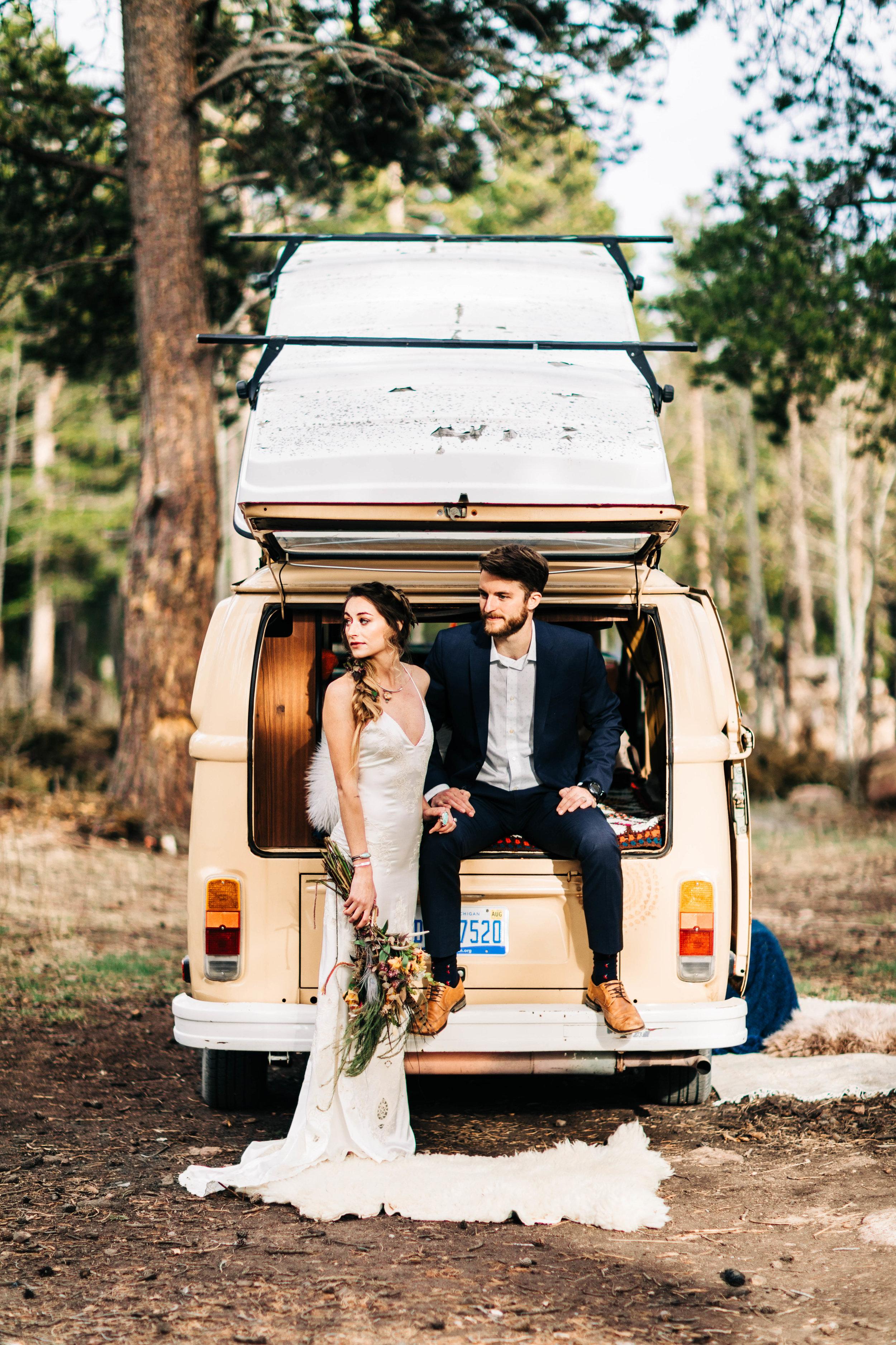 Colorado van life elopement | Rocky Mountain adventure weddings