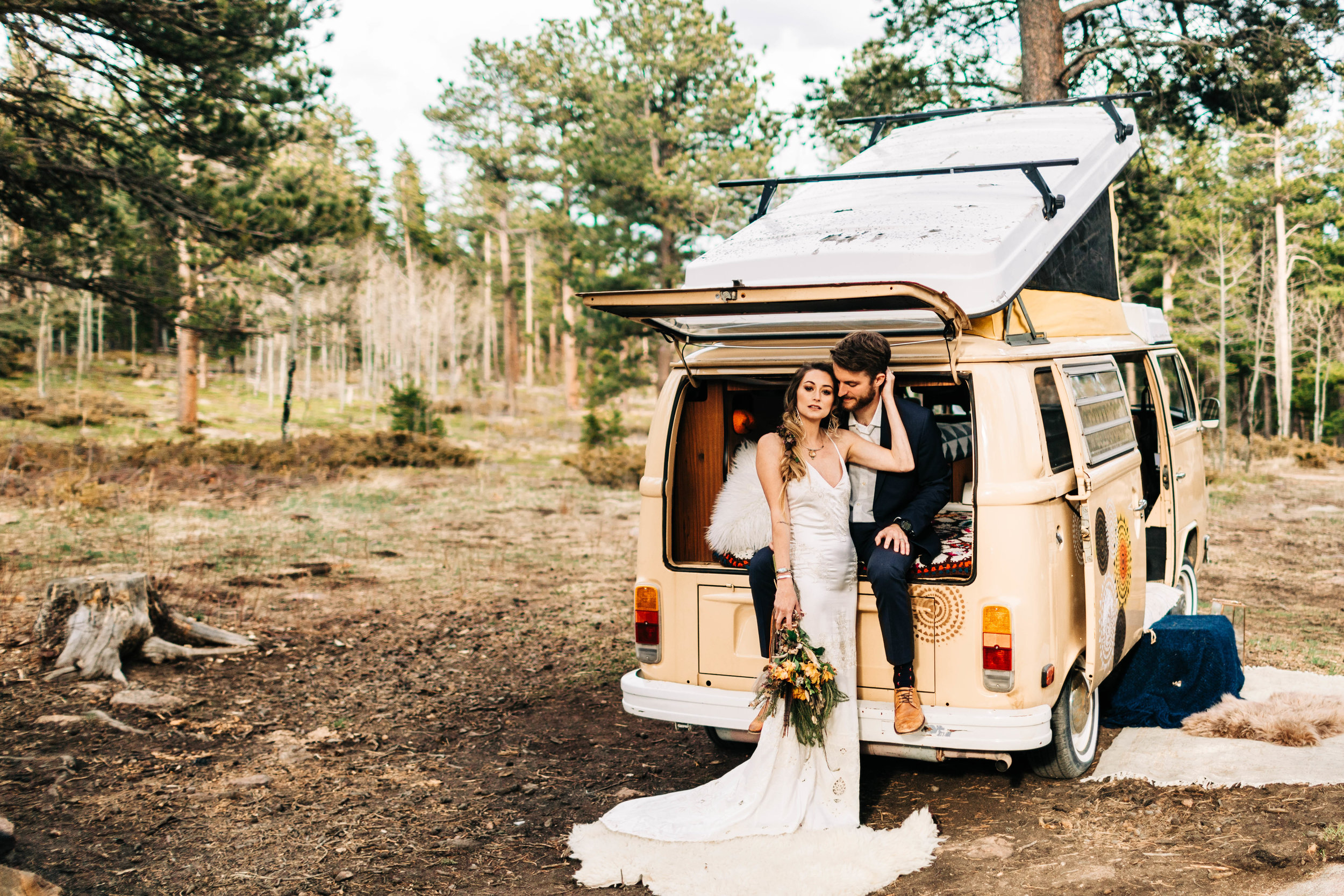 campsite elopement in the Rocky Mountains of Colorado | Fort Collins elopement photographers