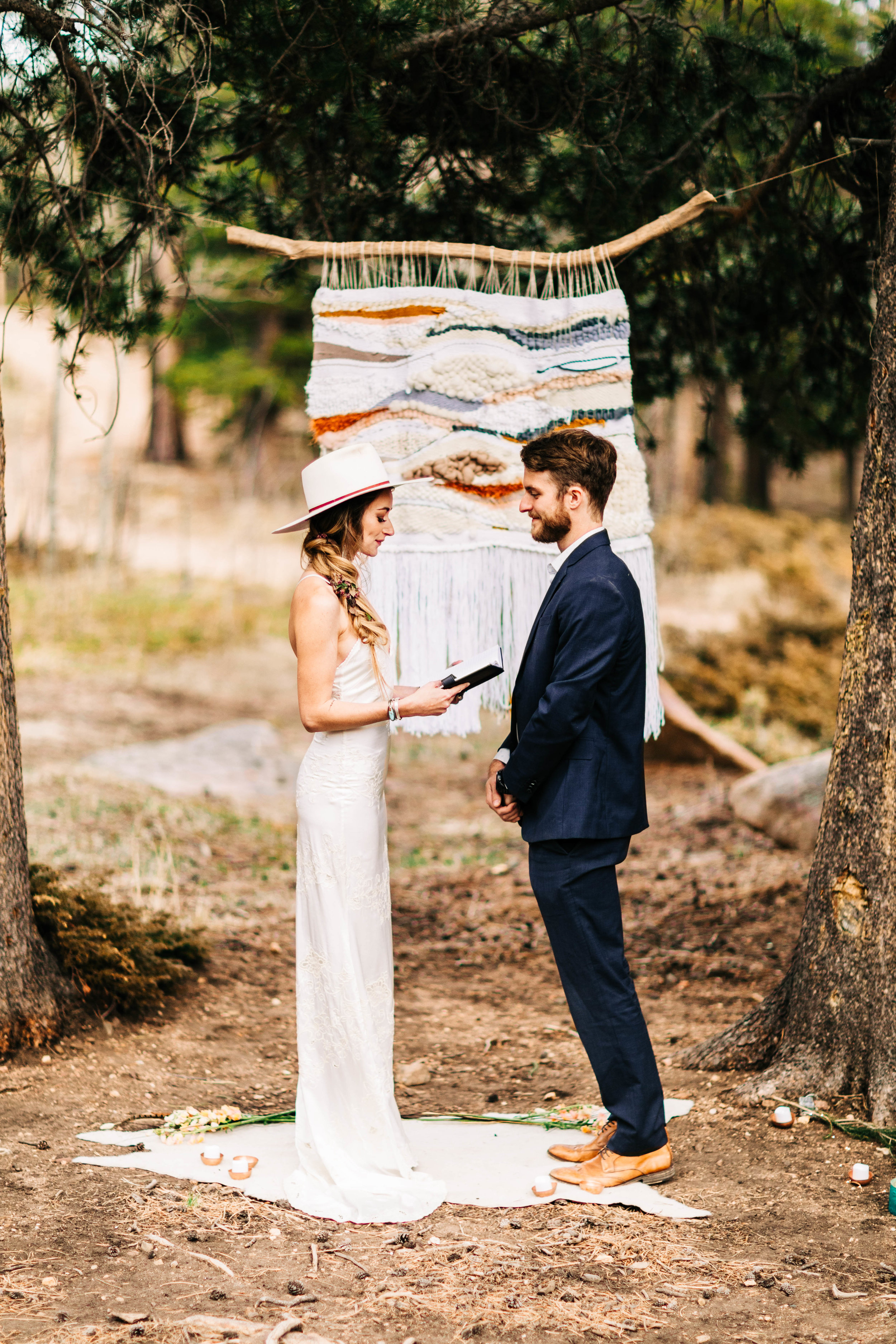 self-solemnized elopement in Colorado | Rocky Mountain adventure elopement photographers