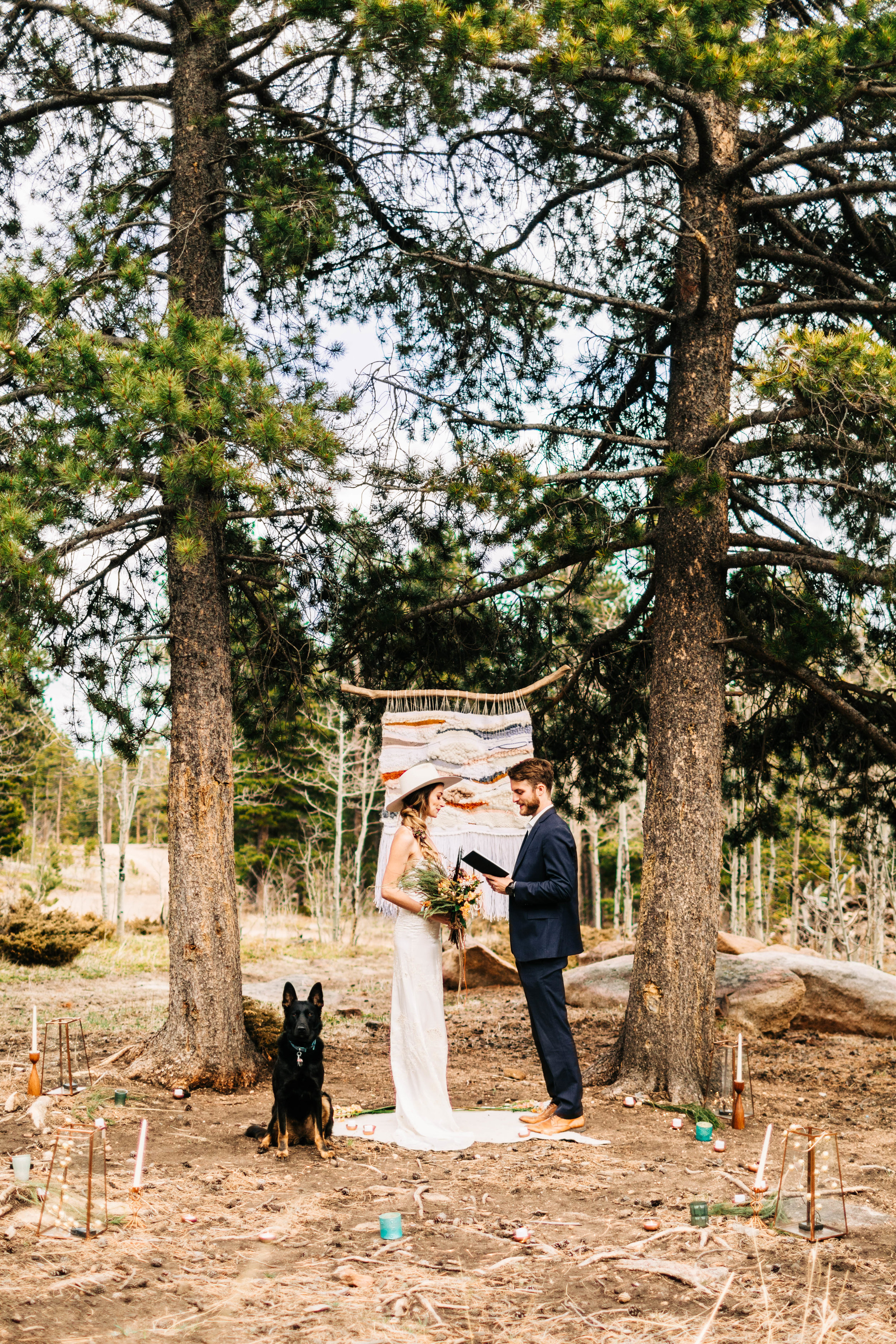self-solemnized elopement in Colorado | Rocky Mountain elopement photographers