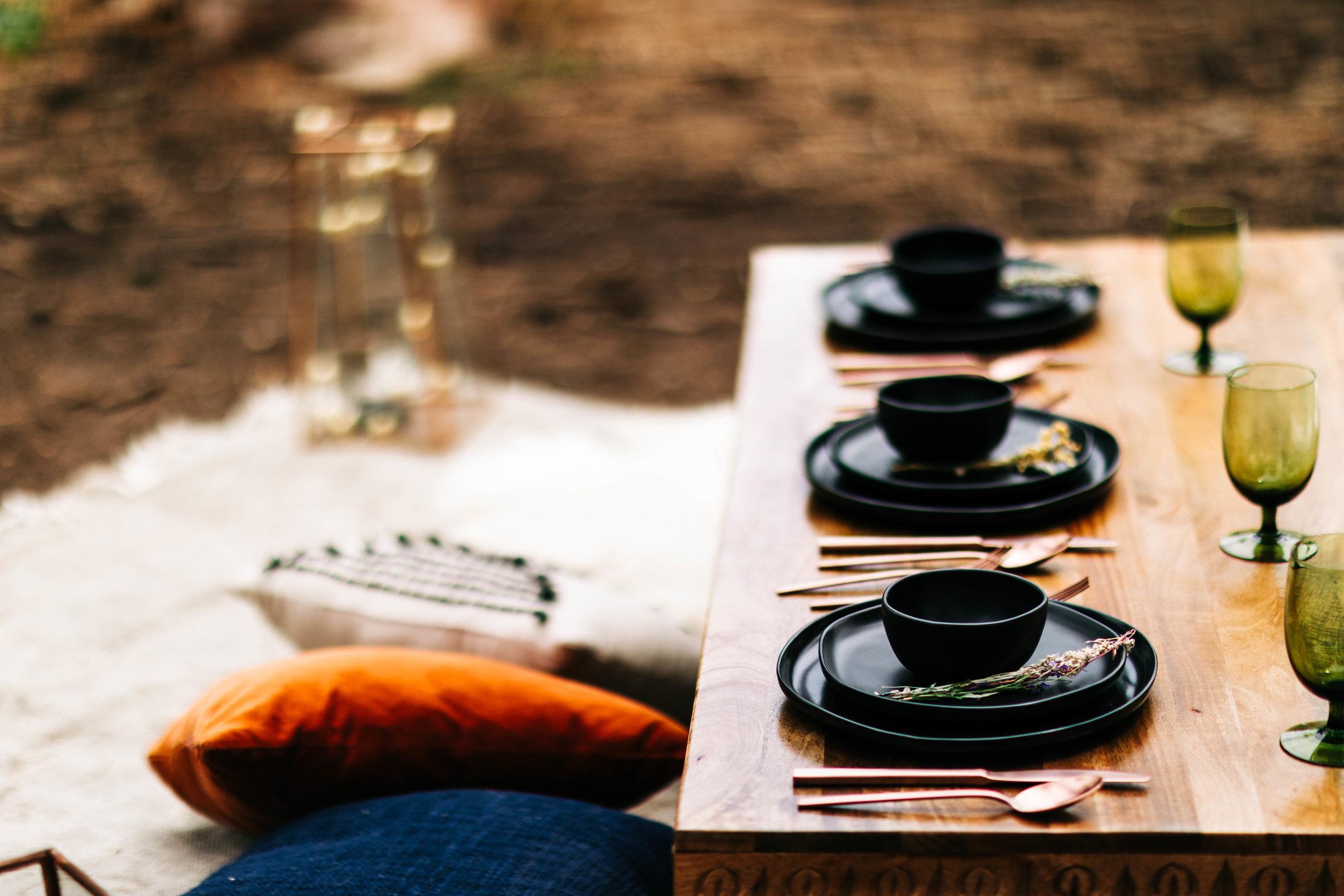 floor pillow picnic for a Colorado adventure elopement | Rocky Mountain elopement photographers near Boulder