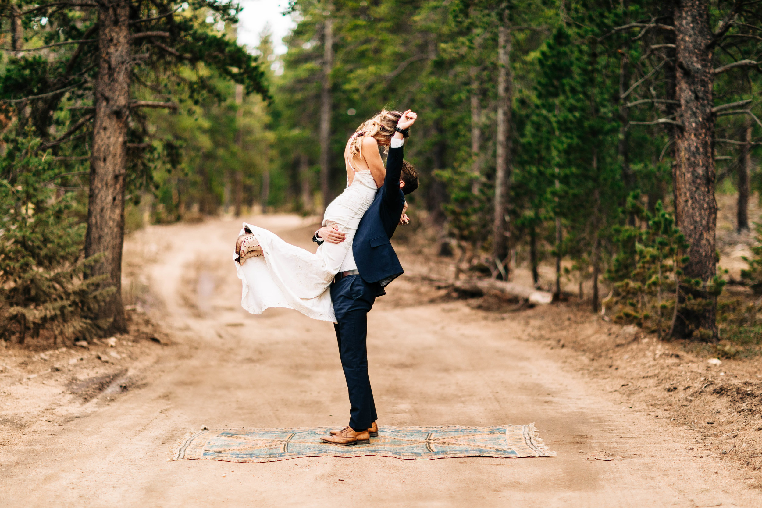 celebrating a Rocky Mountain elopement | intimate wedding photographers in Colorado
