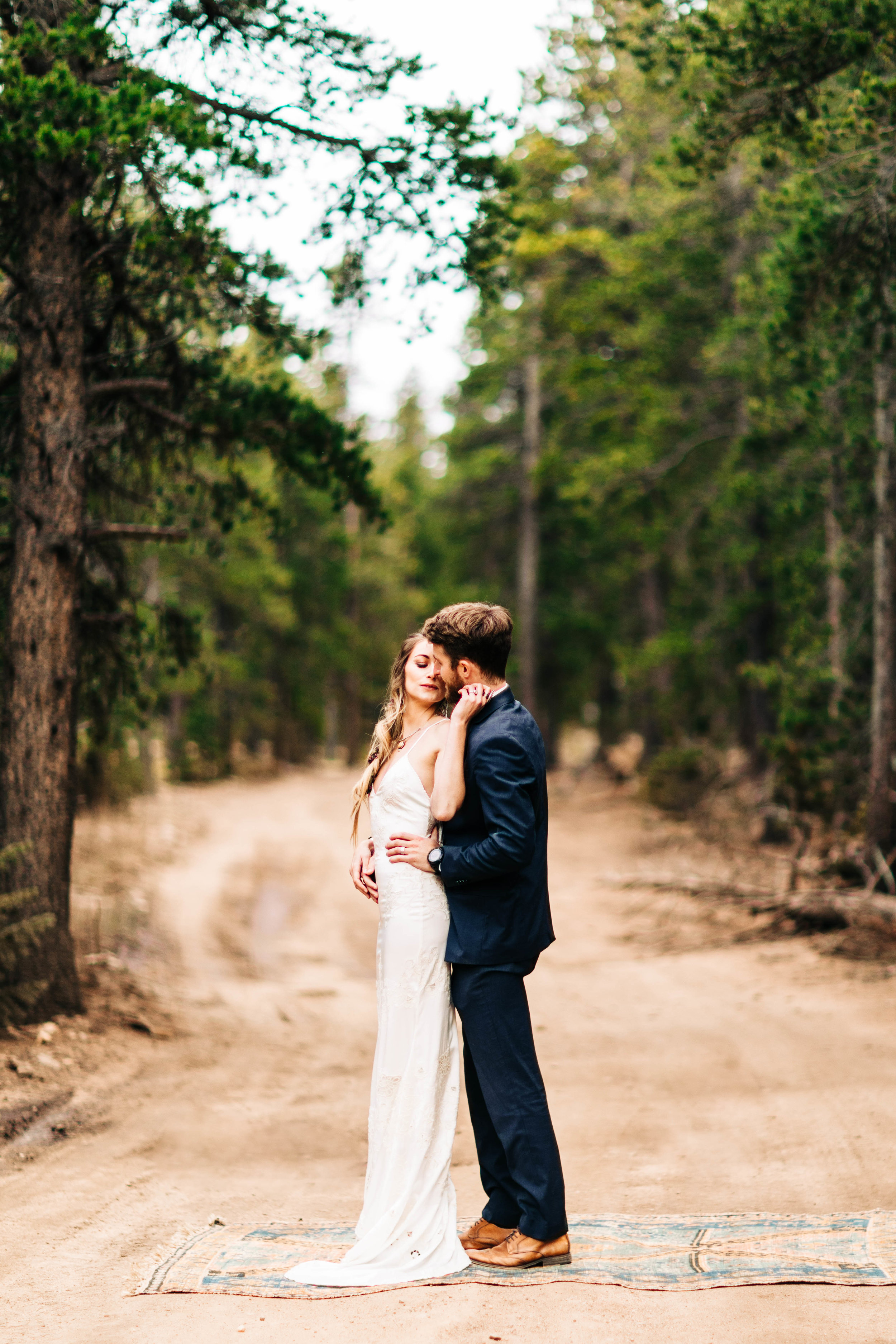 couple sharing their first dance in the Colorado Rocky Mountains | best elopement photographers in Colorado