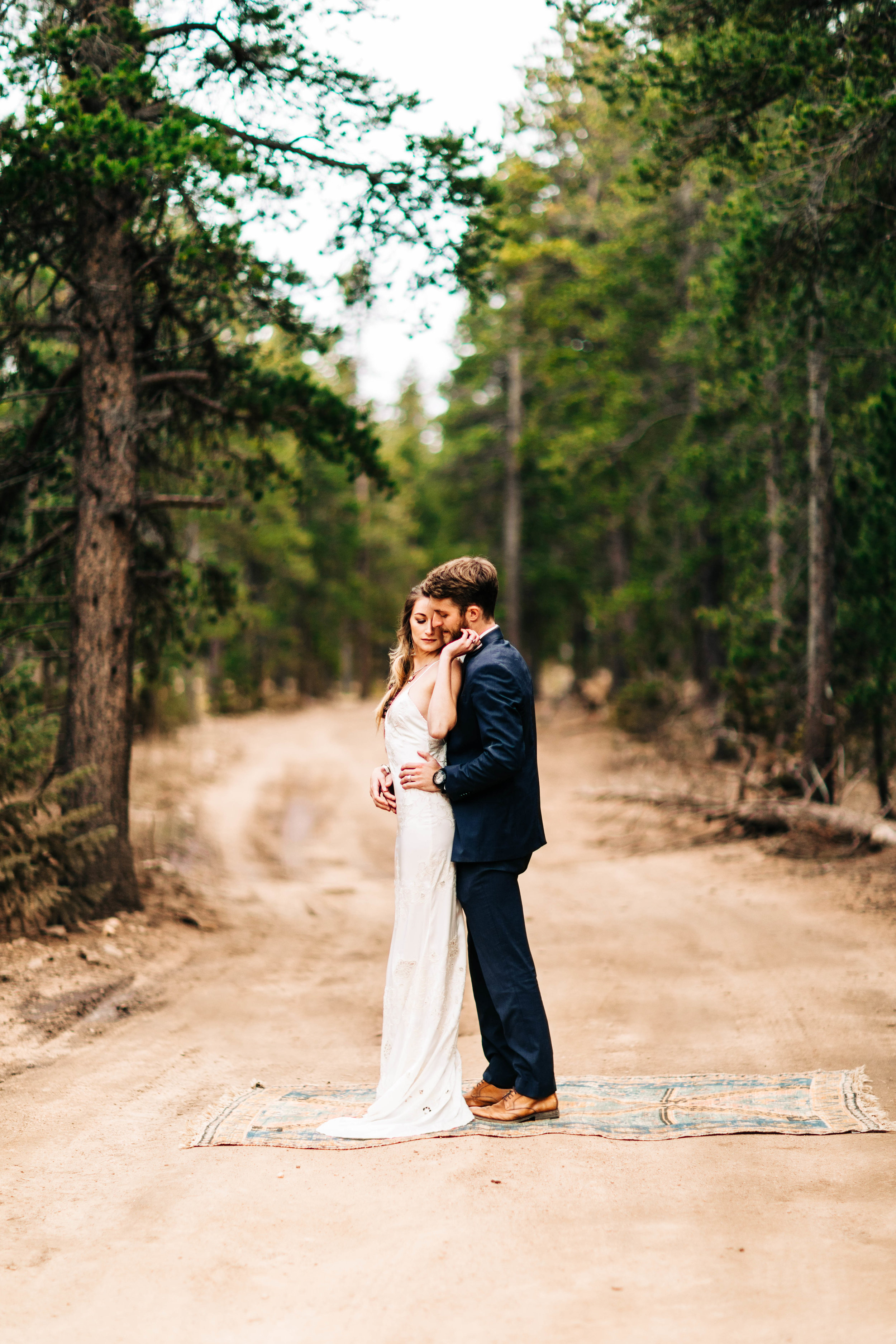 couple sharing their first dance in the Colorado Rocky Mountains | best elopement photographers