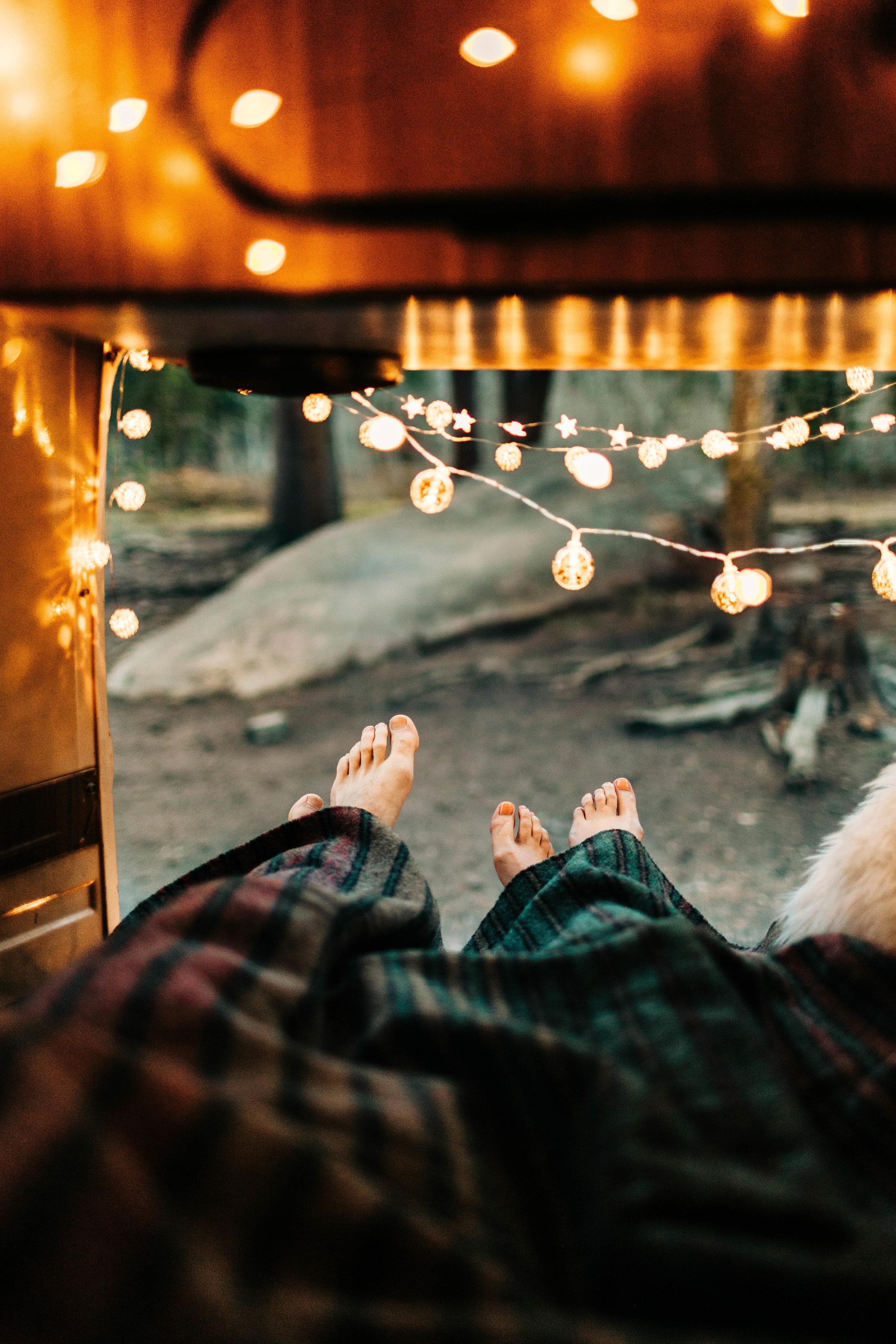 post elopement couples photos inside a vintage camper van | Rocky Mountain elopement photographers