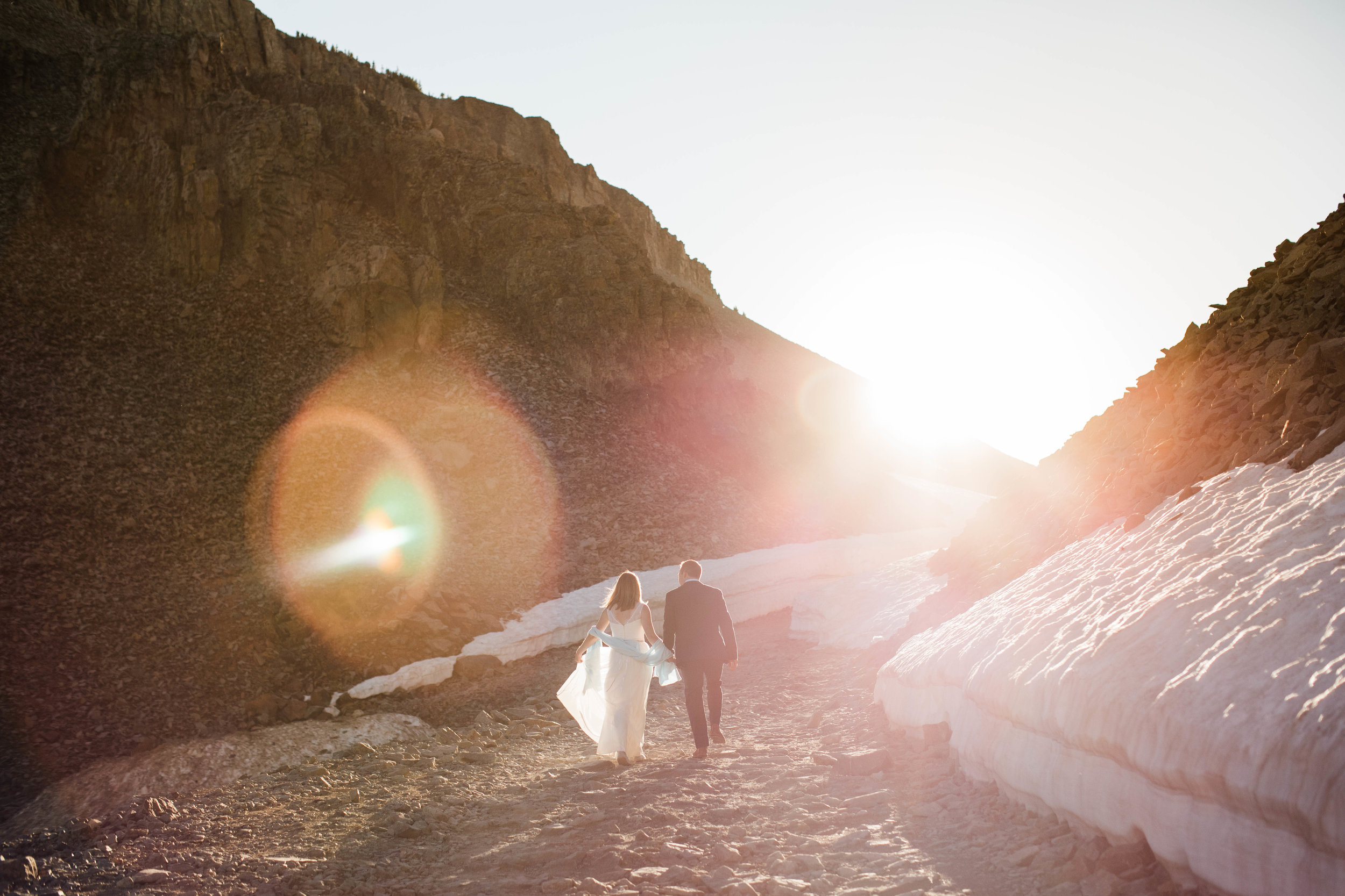Adventure mountain elopement near Telluride Colorado | best adventure elopement photographers based in the San Juan mountains