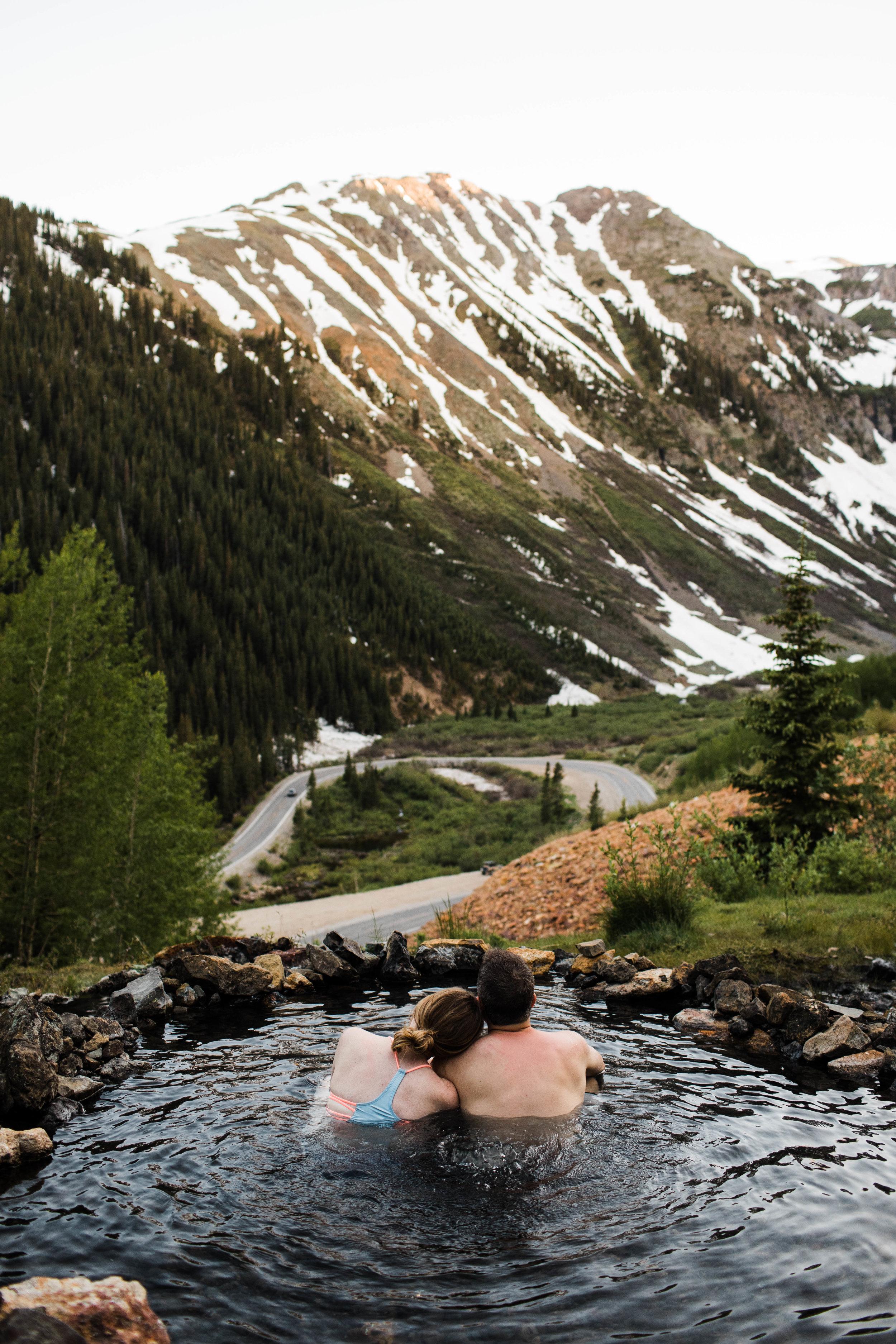 Mountain adventure elopement in the mountains of Silverton Colorado