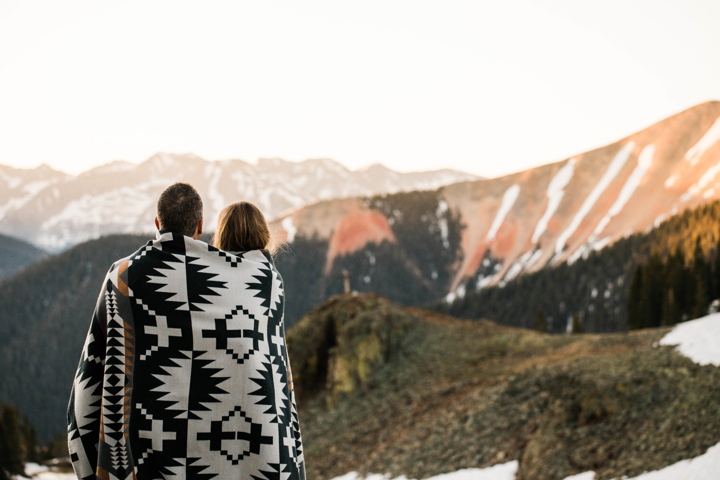 Sunrise adventure elopement in Ophir Colorado | Colorado elopement photographers in the San Juan mountains