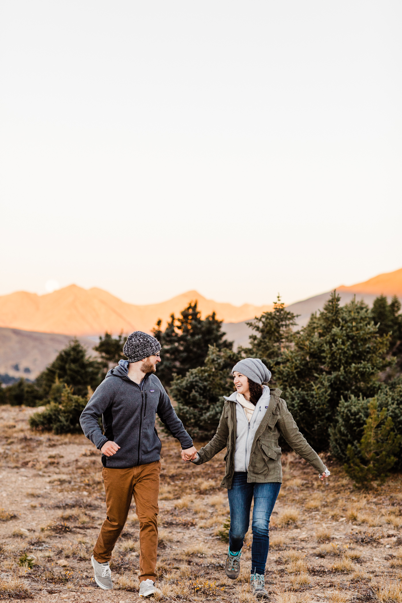 Hiking engagement session in Rocky Mountain National Park | best Colorado elopement photographers