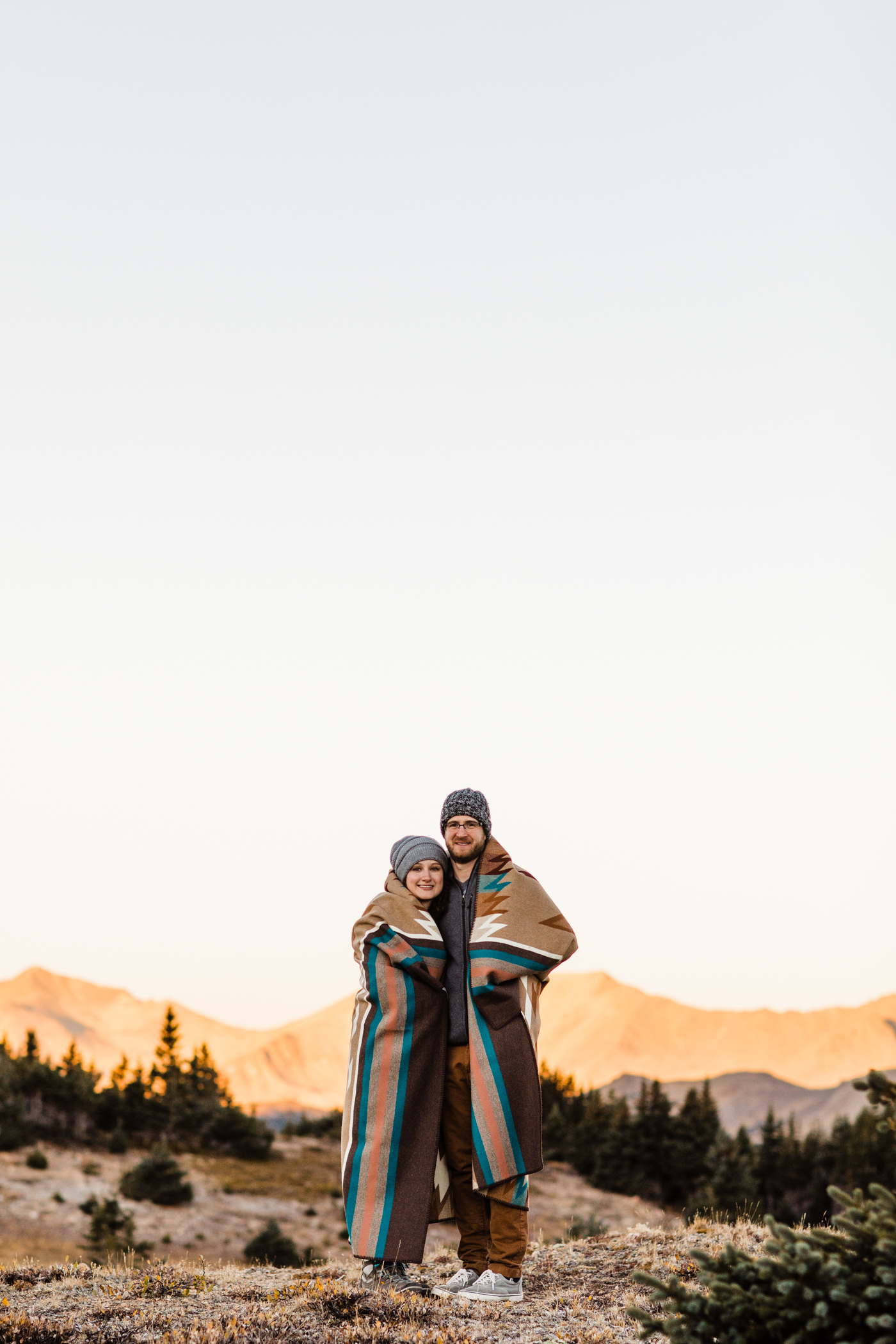Fall engagement session in Rocky Mountain National Park | Rocky Mountain elopement photographers