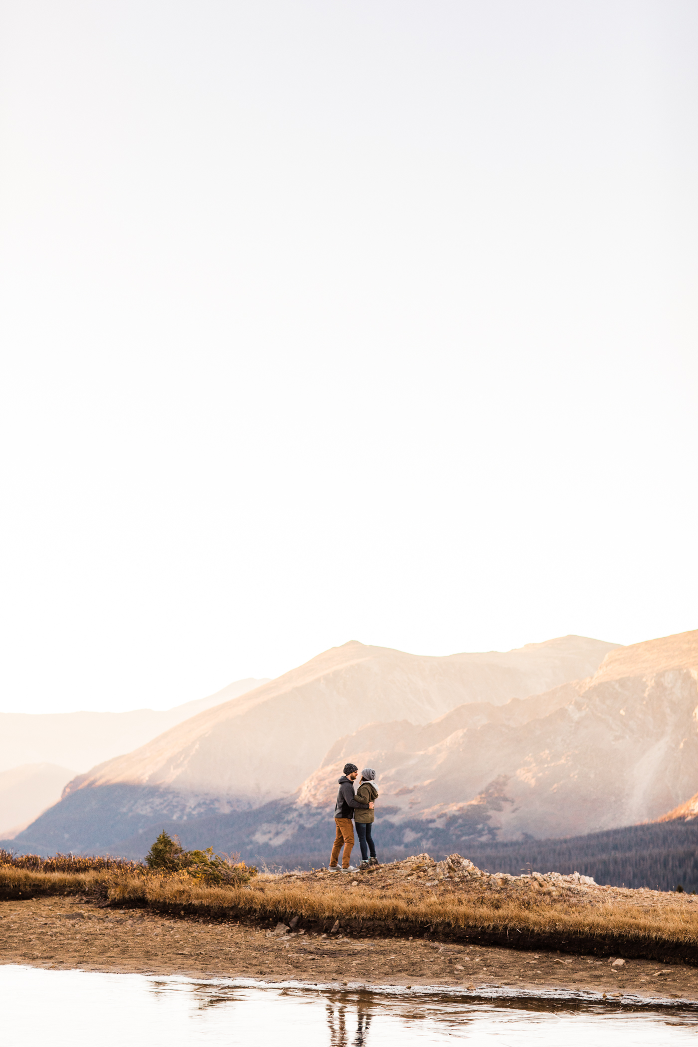 Rocky Mountain engagement photos taken at an alpine lake in Colorado | elopement photographers in Fort Collins