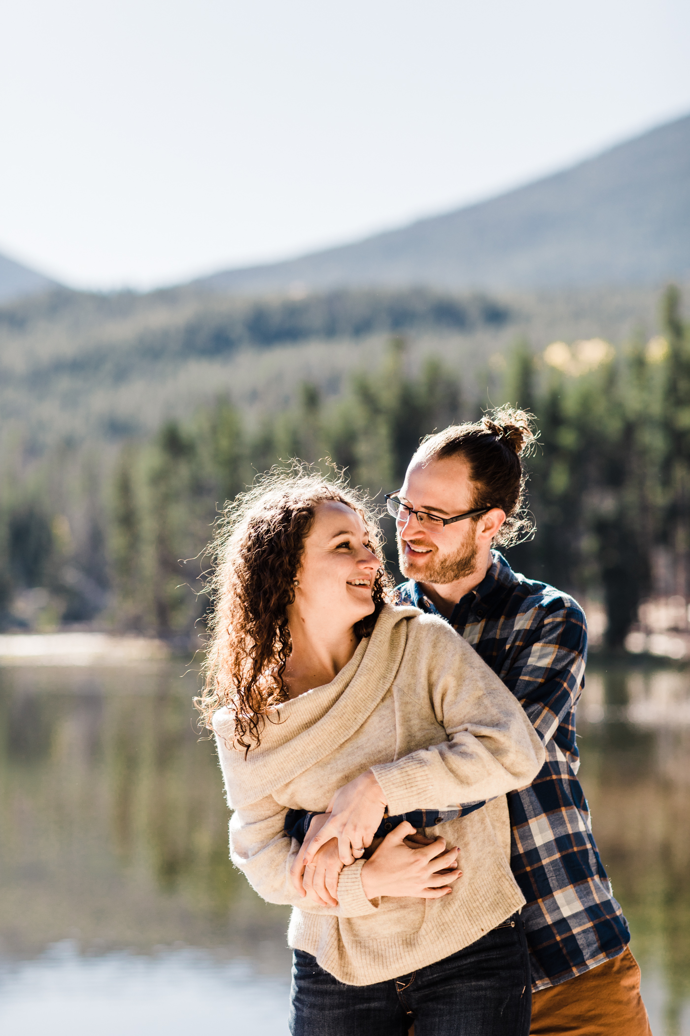 engagement photos at Sprague Lake in Rocky Mountain National Park | Colorado elopement photographers