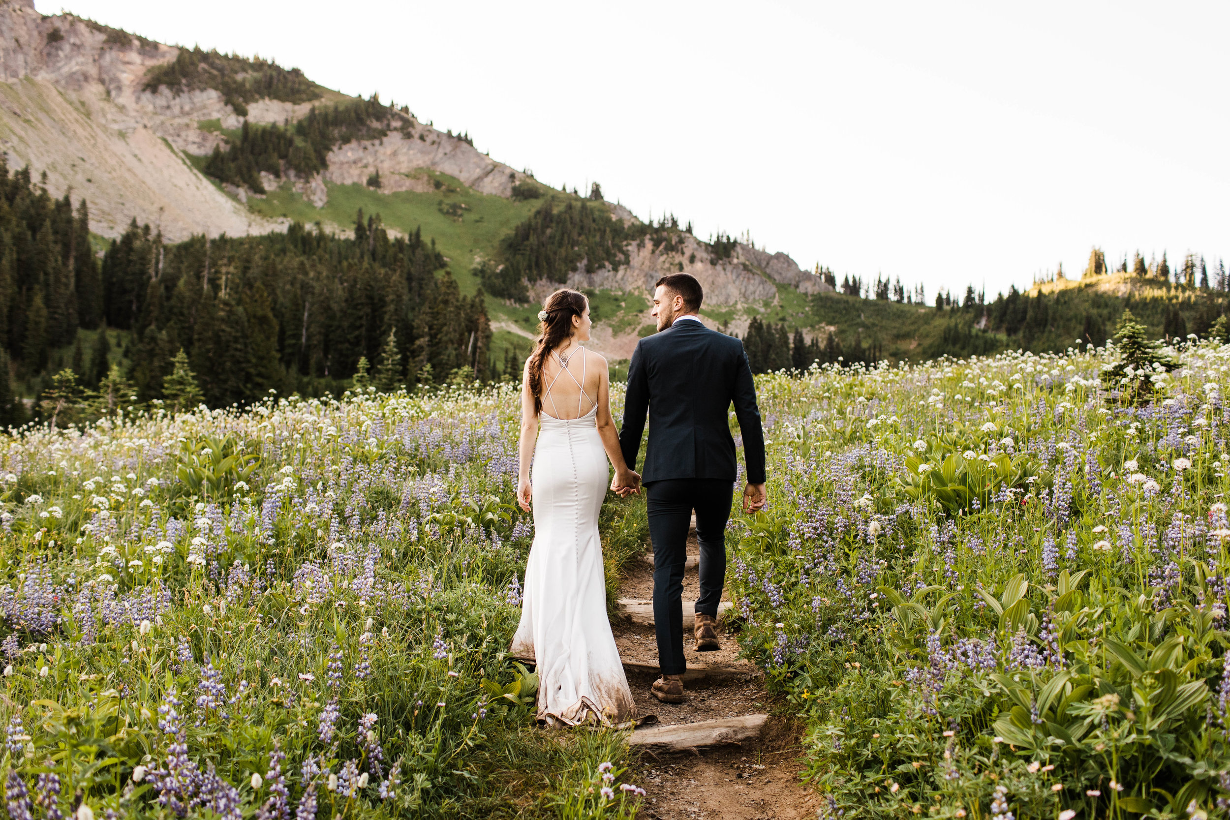 Summer wildflower elopement in Mount Rainier National Park   Washington State Elopement Photographers