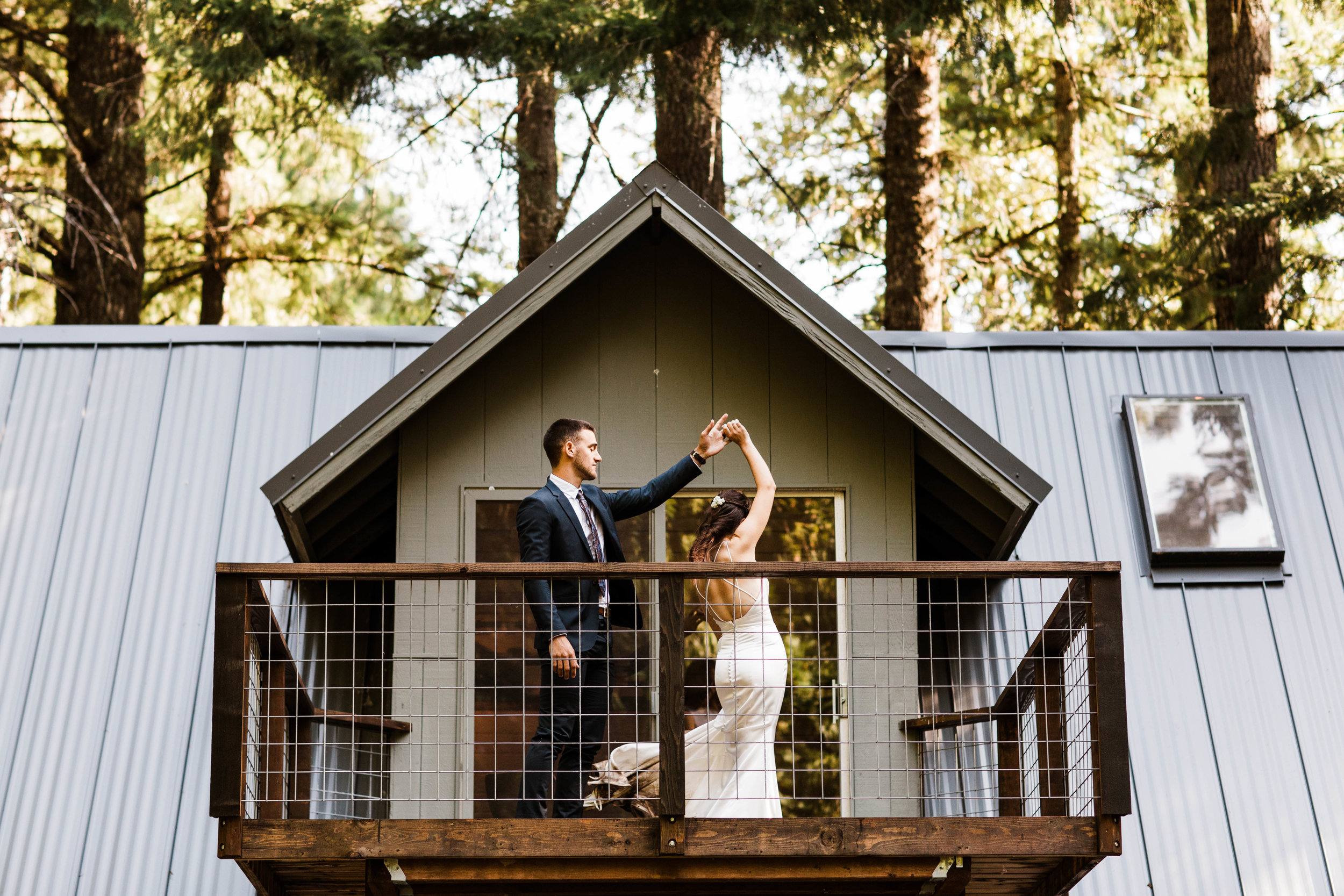 elopement first dance in Mt Rainier National Park | Seattle Washington adventure wedding and elopement photographers