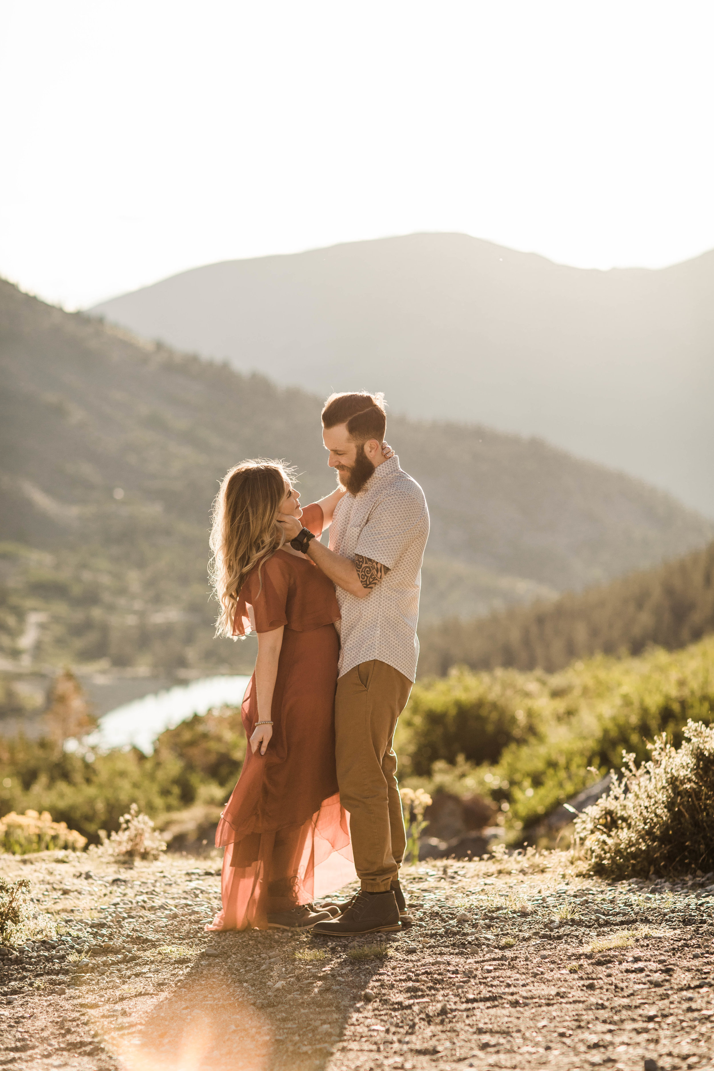gorgeous mountain engagement photos in the mountains of Colorado | Breckenridge elopement and adventure wedding photos