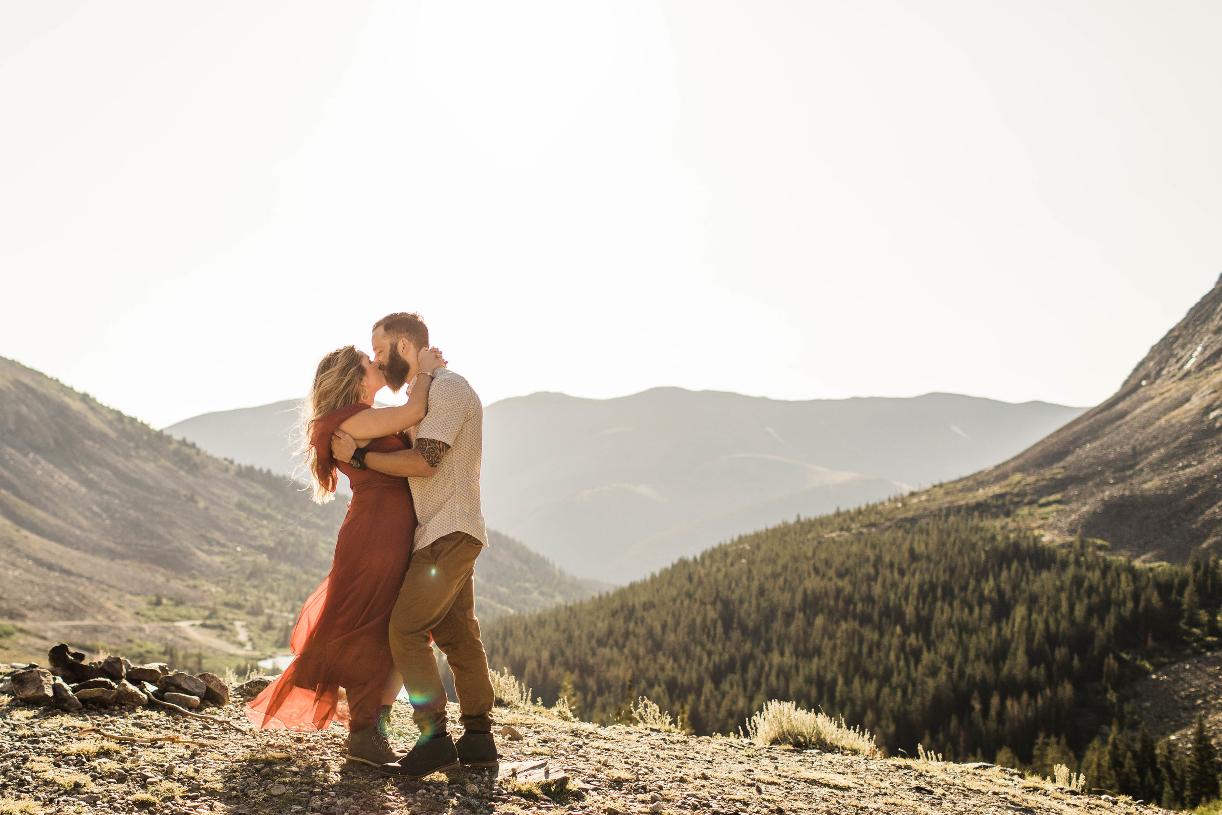 super romantic adventurous engagement photos in Breckenridge for an eloping couple | best Colorado elopement photographers