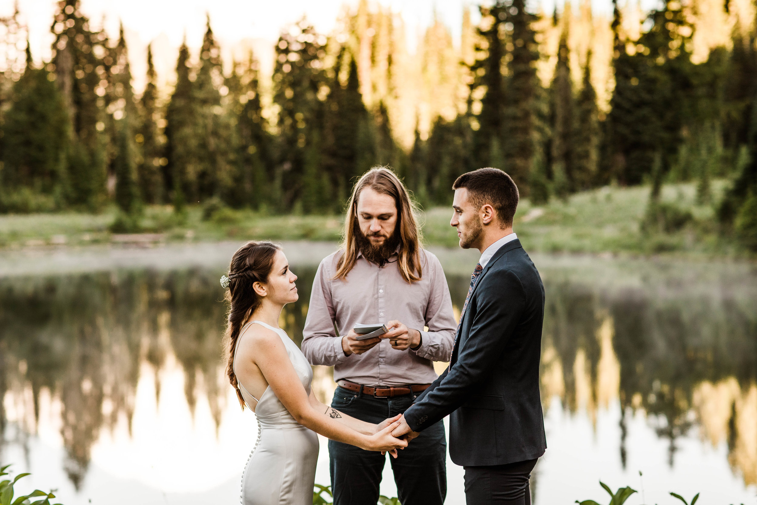elopement ceremony in Mount Rainier | national park elopement photographers in Washington state