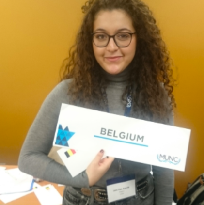 The delegate of Belgium after an interview (Washington Post).
