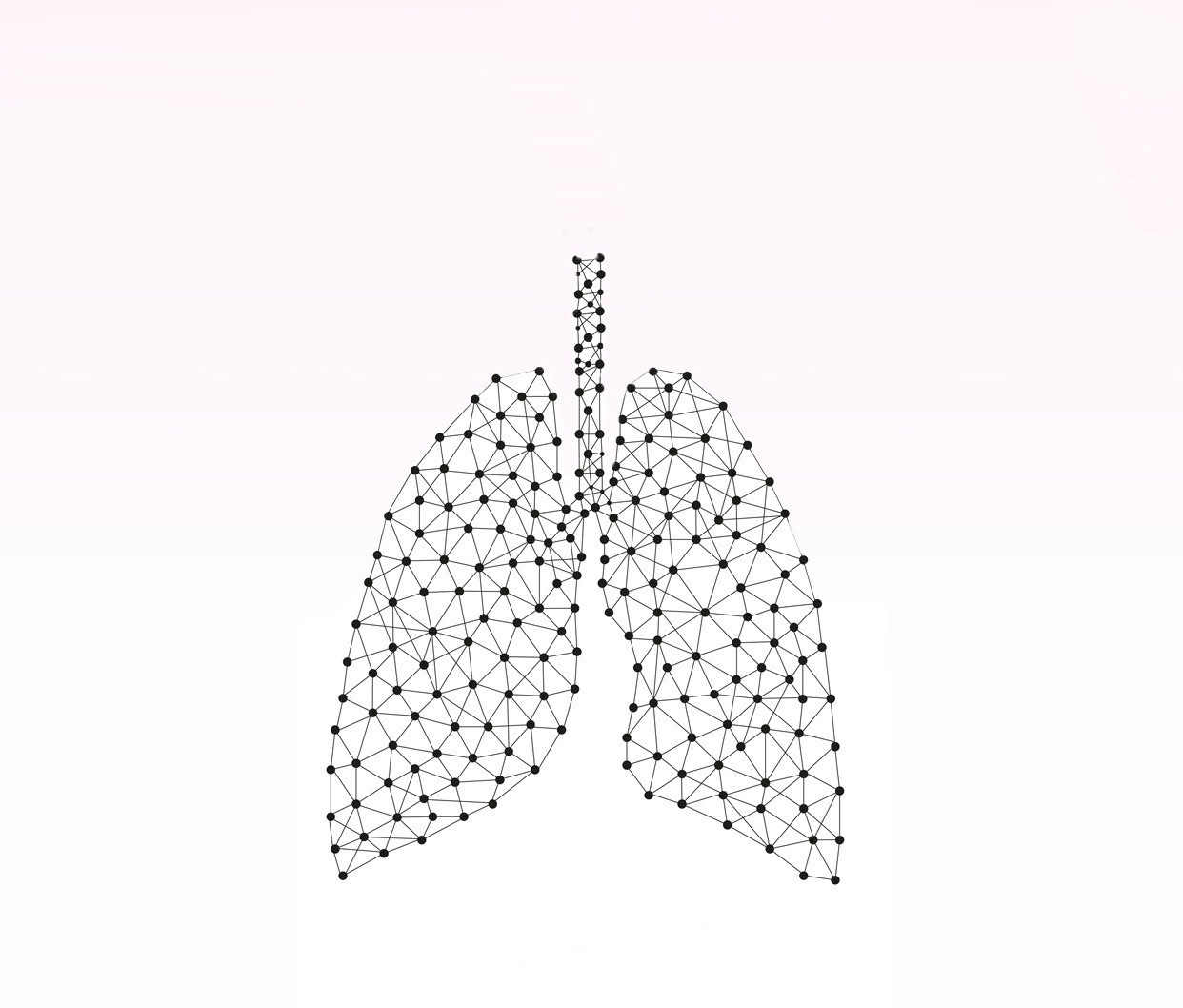 Lungs Project - logo inspired by rhizomatic connections