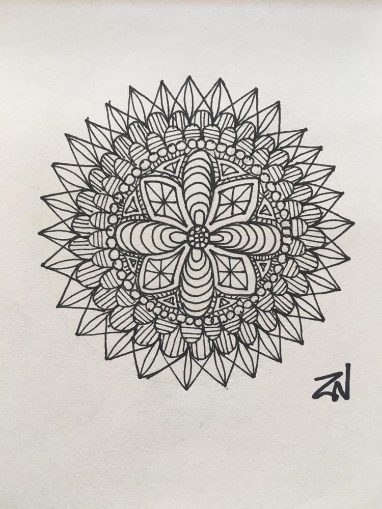 Title: Clockwork  Medium: Freehand with Black Ink Pen