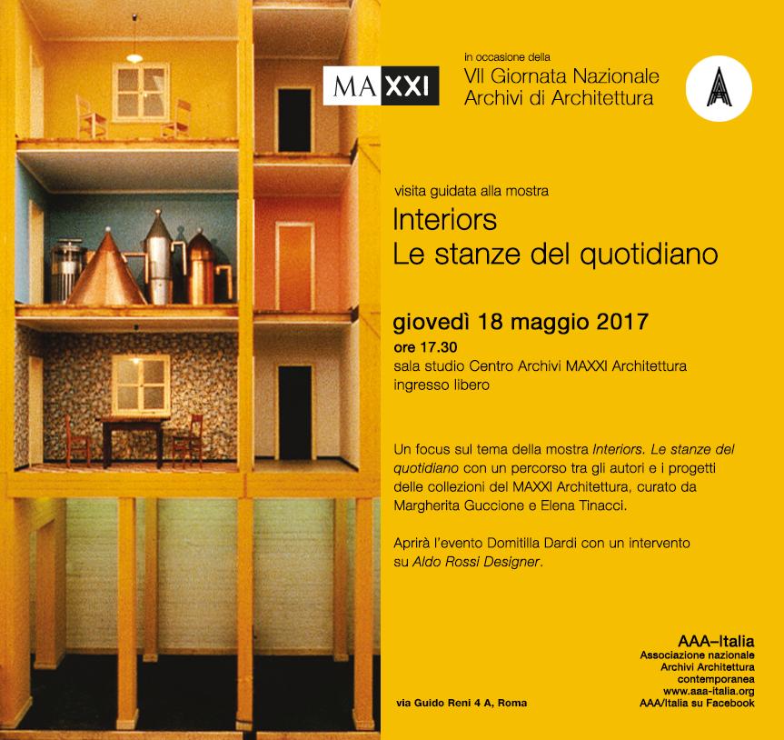 In occasione della  VII Giornata nazionale degli archivi di architettura  visita guidata alla mostra Giovedì 18 maggio 2017, 17.30 - 19.00