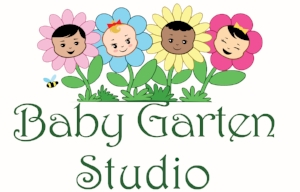 Logo for Baby Garten Studio, home to Baby Sign Language Basics, located in San Diego's historic South Park, 1947 30th St. San Diego, CA 92102