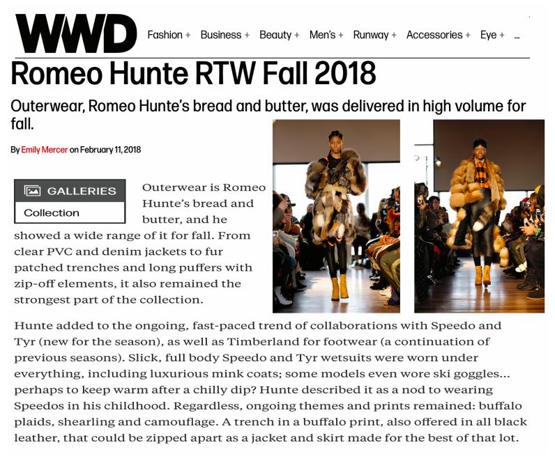 RTW FALL 2018 by WWD
