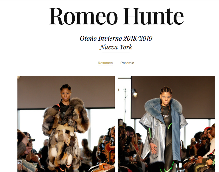 F/W 2018 by Vogue Spain