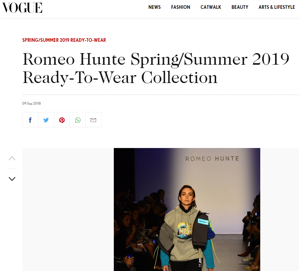 Spring/Summer 2019 by VOGUE