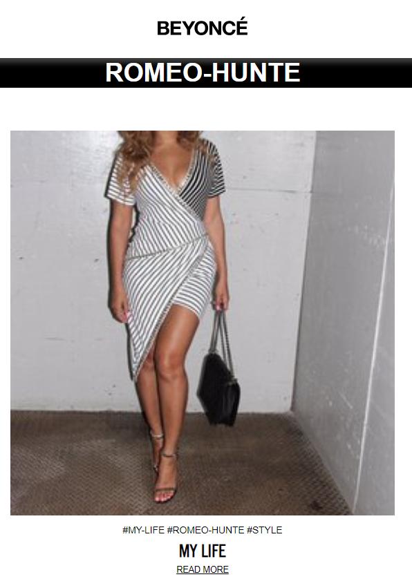 Beyoncé Romeo Hunte Style