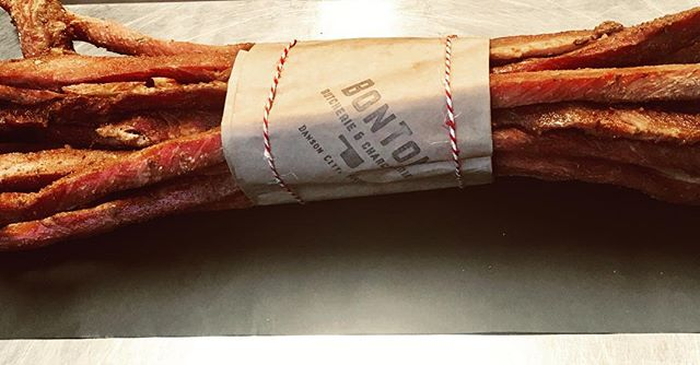 Coppiette- Italian dried pork strips, fennel & pepperoncini. Pork sourced from close to home, 11km in fact. Thanks Lastraw Ranch! #meattreats #supportyukonfarms .............@meganalamode