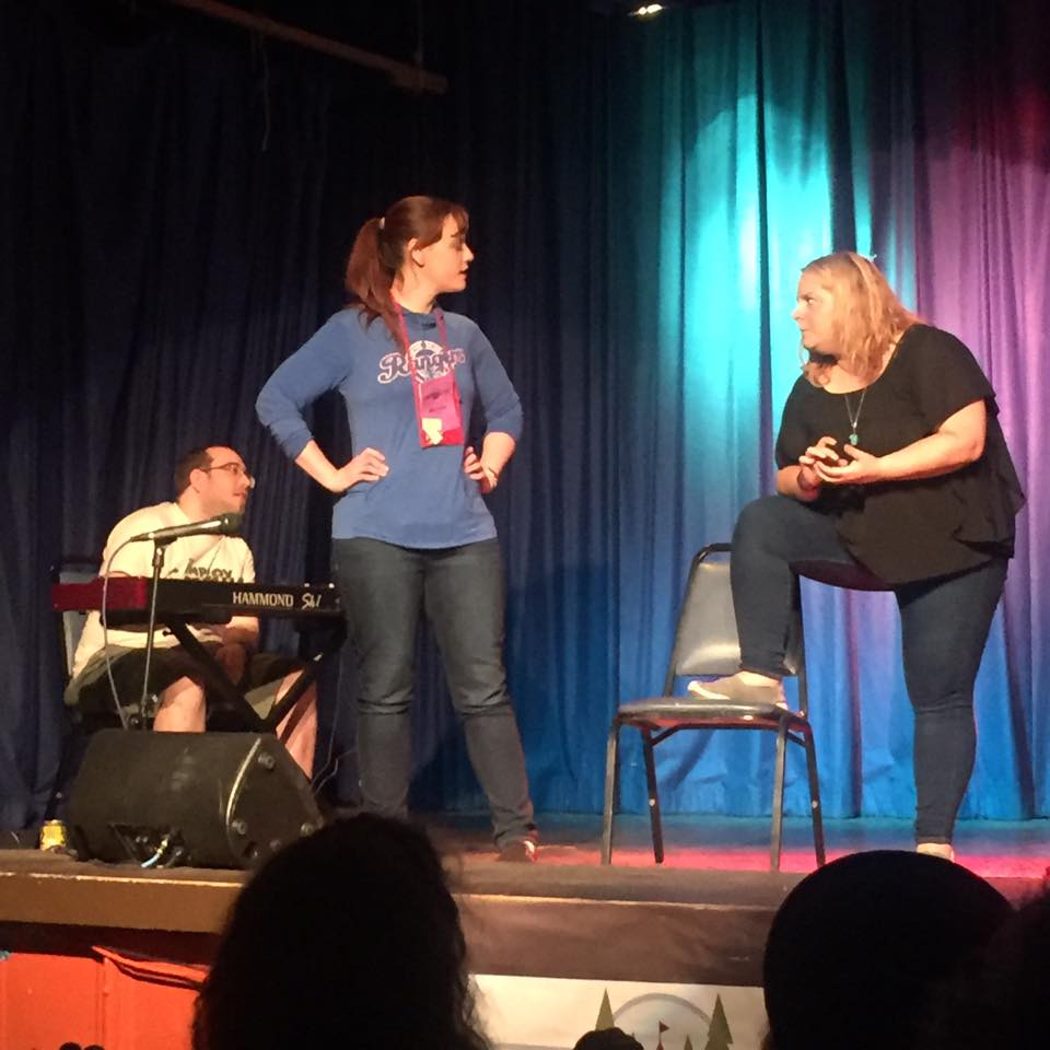How lucky am I to get to improvise with my improv idol?! (In  defrancisCO )