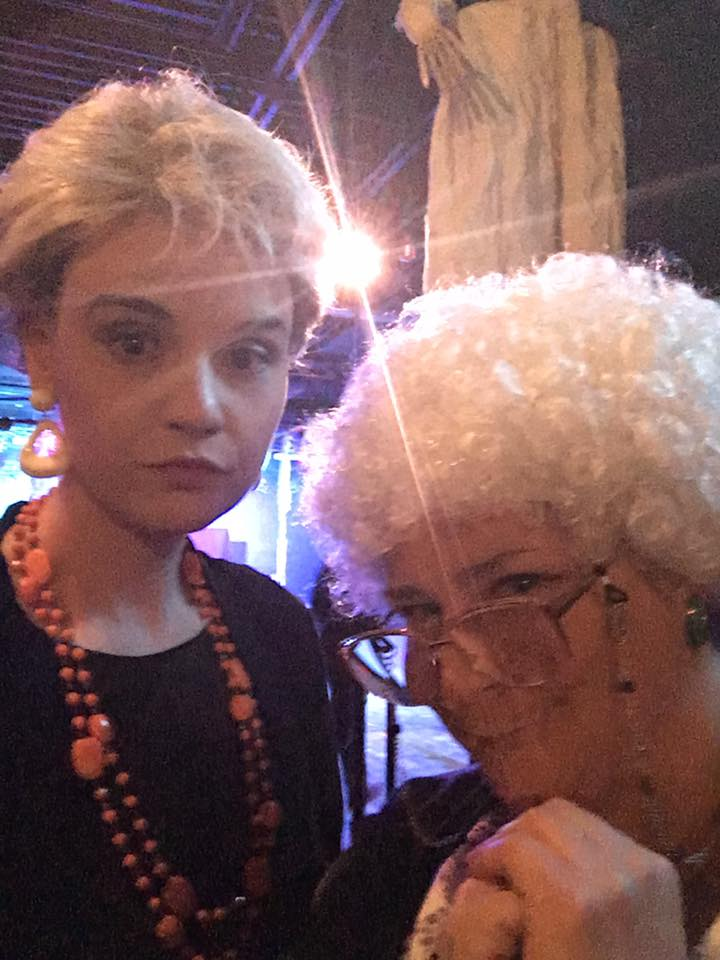 Just a couple of ladies out on the town dressed as the Golden Girls