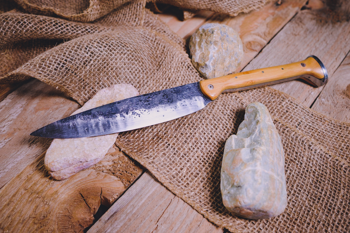 Rustic RAILROAD SPIKE Knife