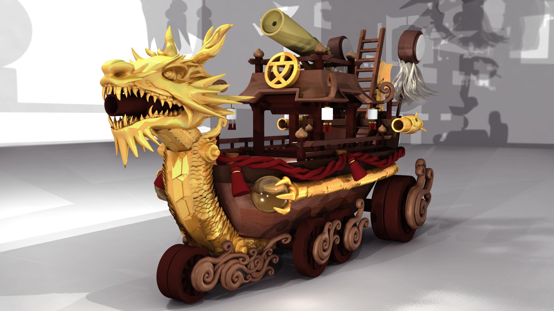 DRAGON BOAT  3D Modelling | 3D Rendering