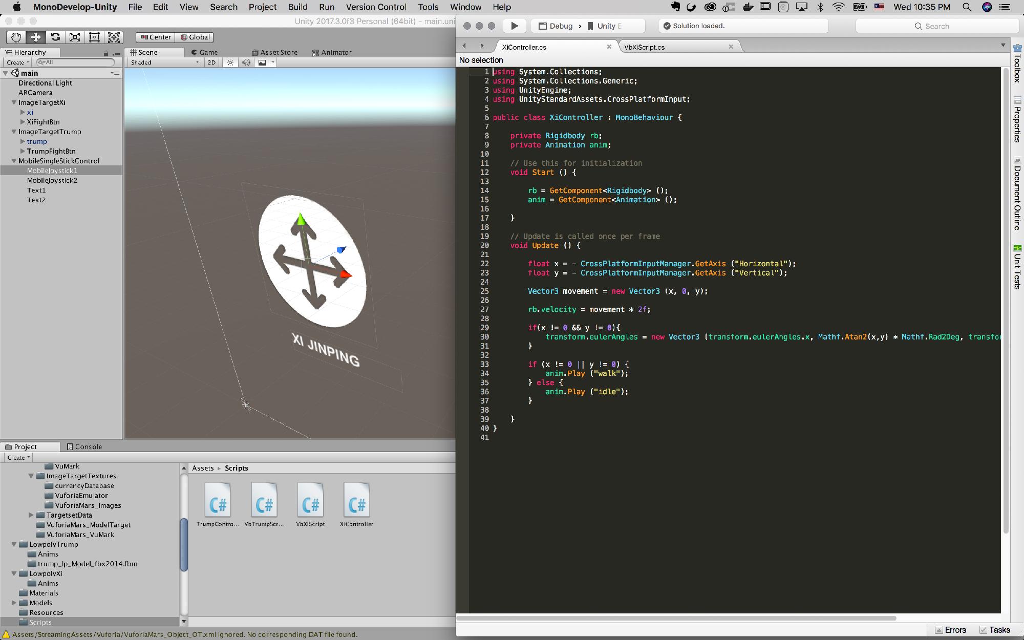 Joystick control script