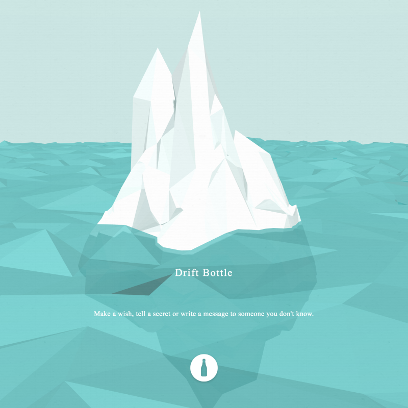 DRIFT BOTTLE  WebGL | App