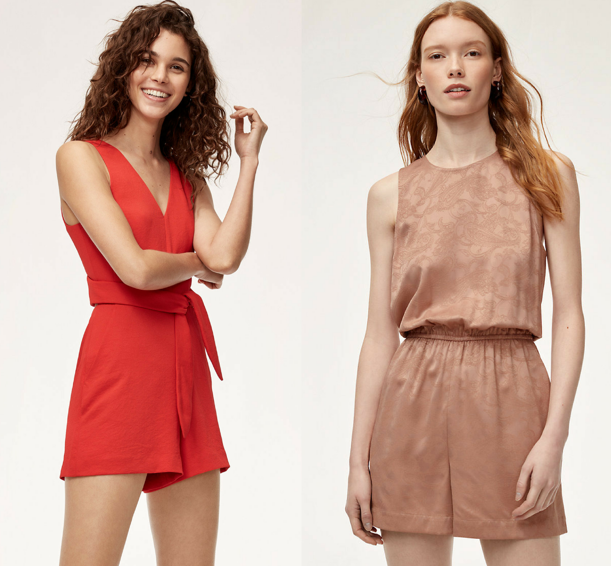 shop the look - Aritzia- Wilfred Ecoulement Romper (left) Rive Romper (right)